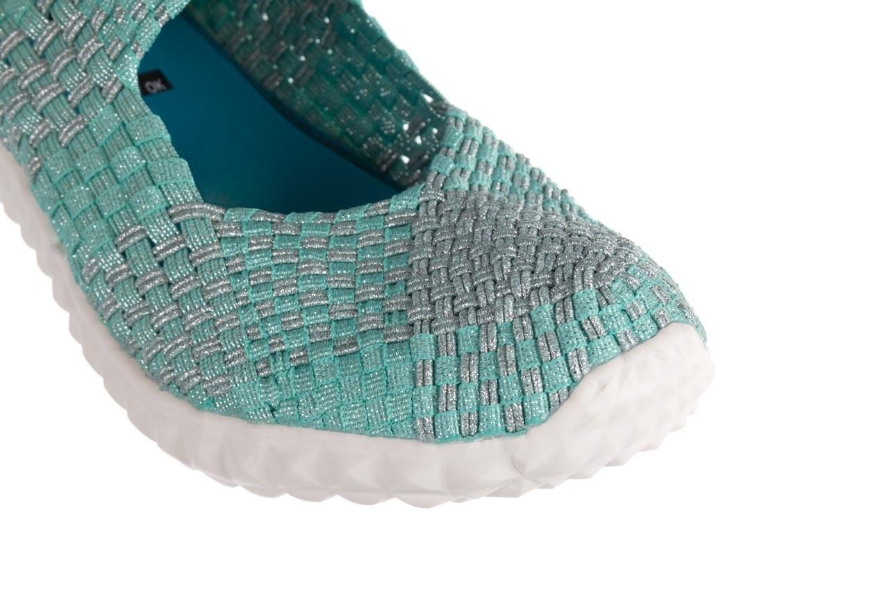 Półbuty rock nyc met mint 20, miętowy/ srebrny, materiał - sandały - buty damskie - kobieta 13