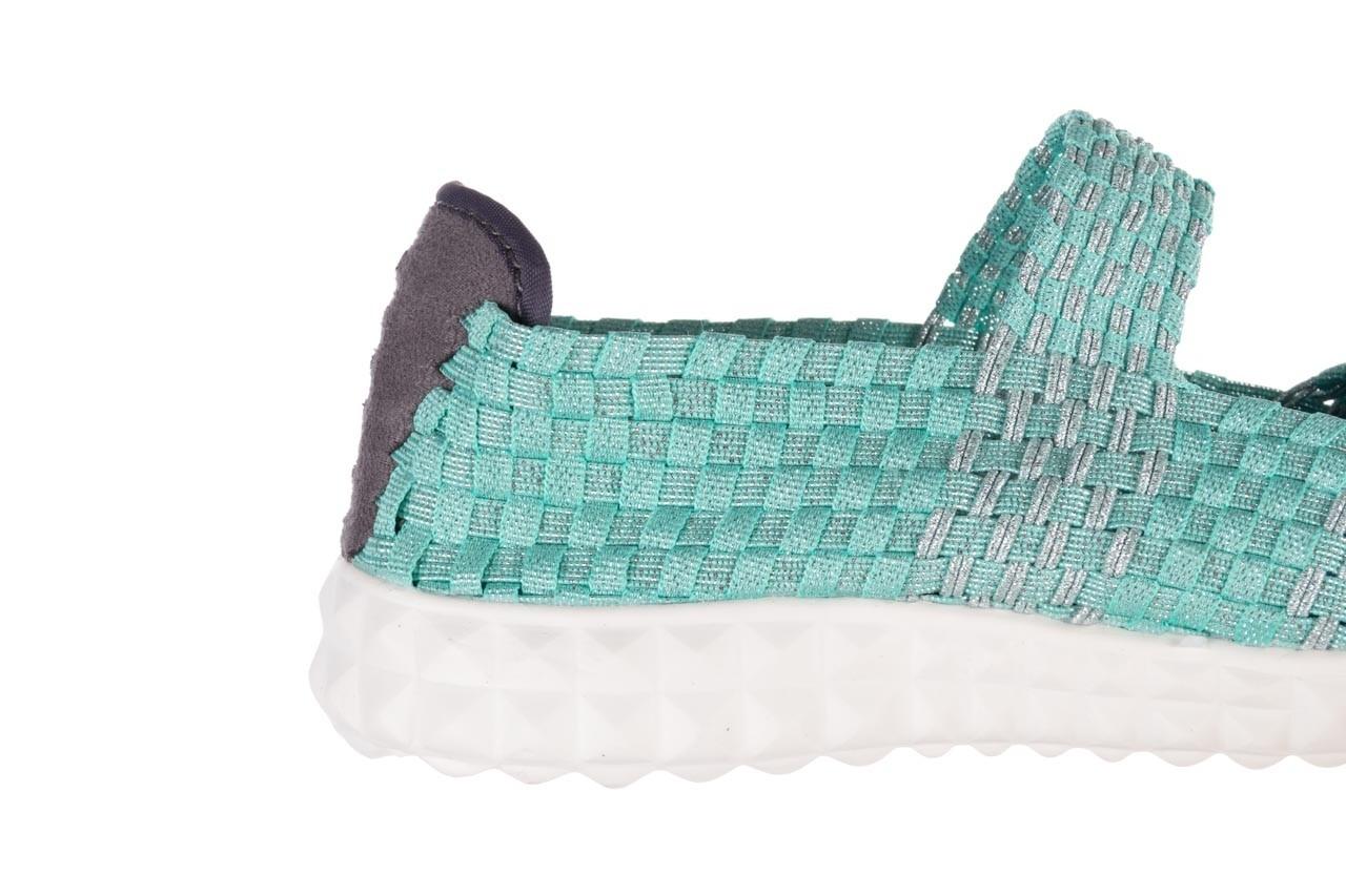 Półbuty rock nyc met mint 20, miętowy/ srebrny, materiał - sandały - buty damskie - kobieta 14
