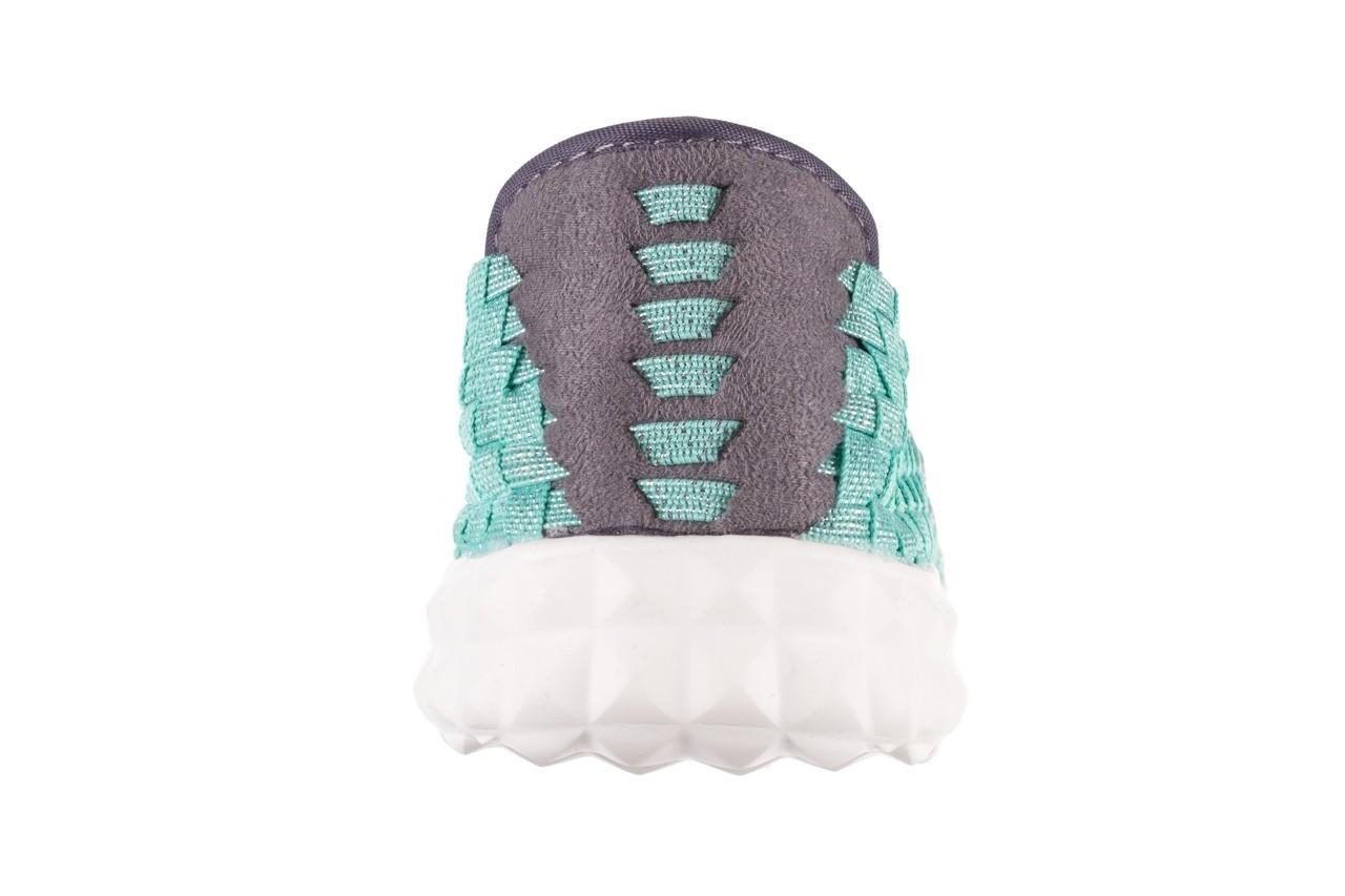 Półbuty rock nyc met mint 20, miętowy/ srebrny, materiał - sandały - buty damskie - kobieta 15