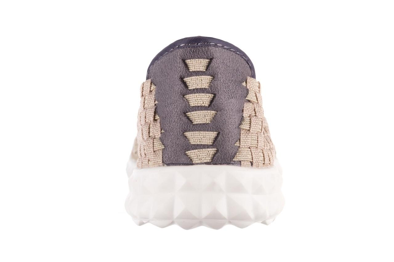 Półbuty rock colair 14 beige gold, złoty/ beż, materiał - półbuty - buty damskie - kobieta 15