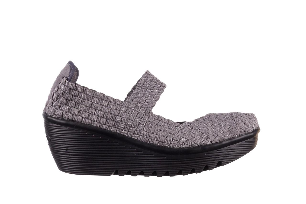 Półbuty rock brasil 2 grey silver lines, szary, materiał - koturny - buty damskie - kobieta 8