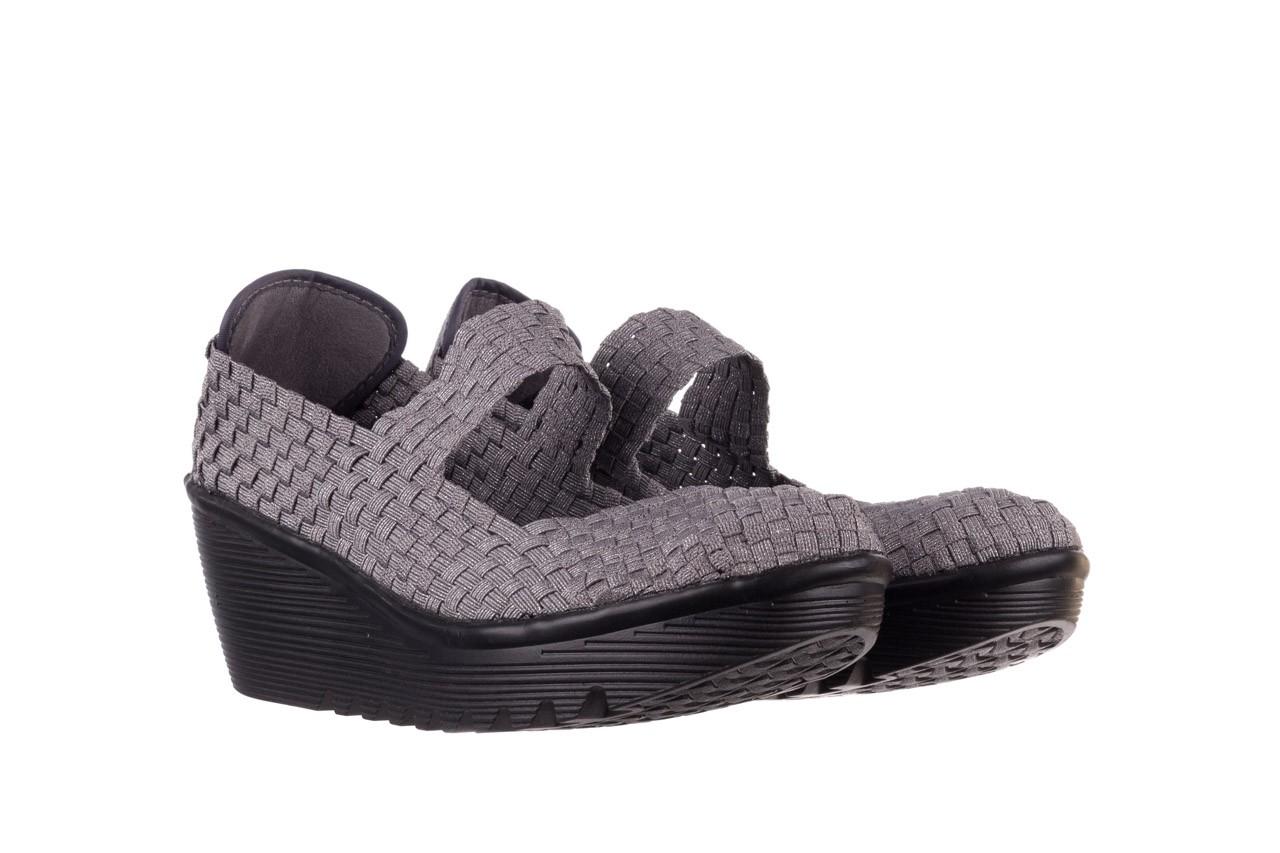 Półbuty rock brasil 2 grey silver lines, szary, materiał - koturny - buty damskie - kobieta 9