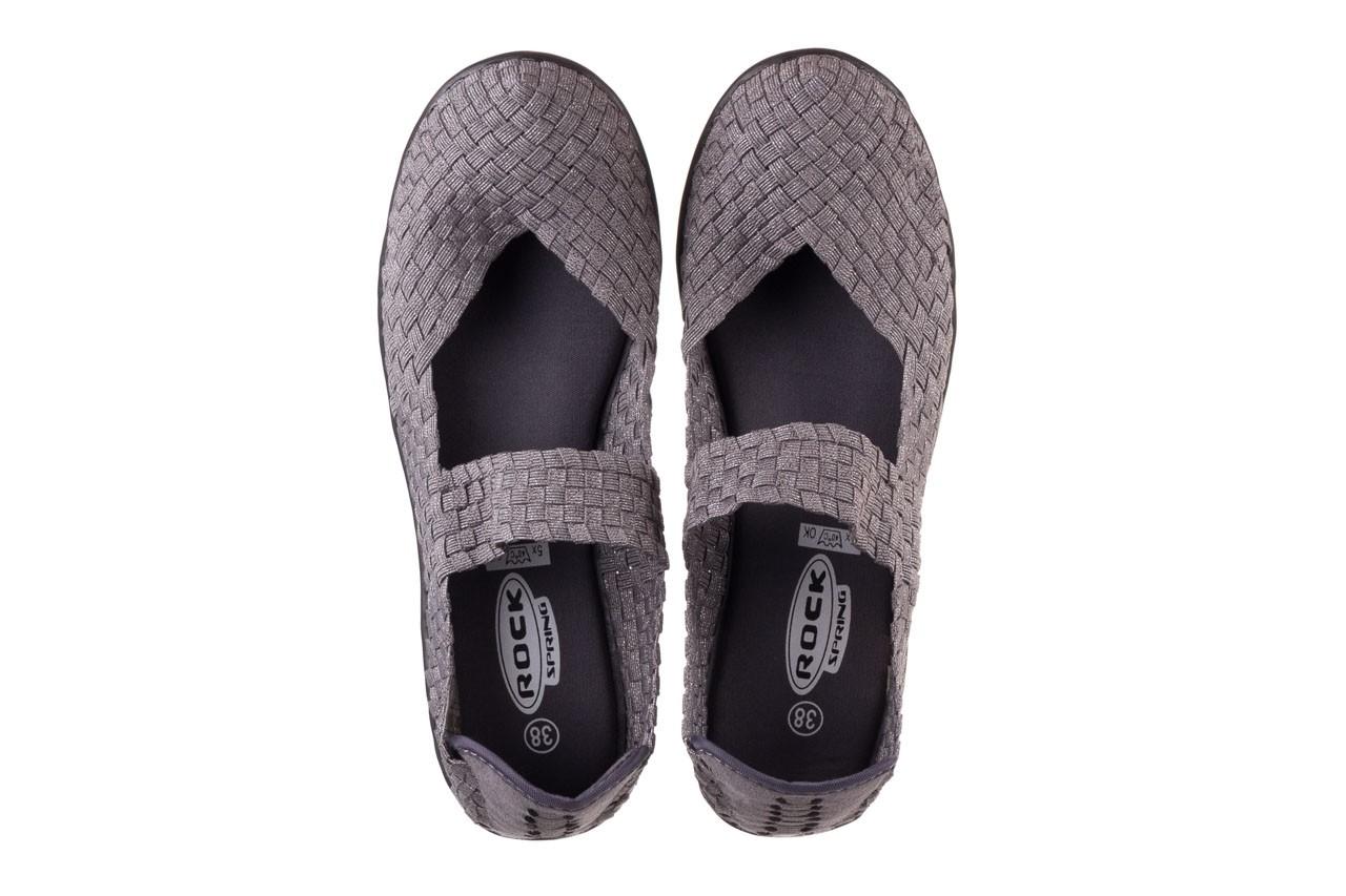Półbuty rock brasil 2 grey silver lines, szary, materiał - koturny - buty damskie - kobieta 12