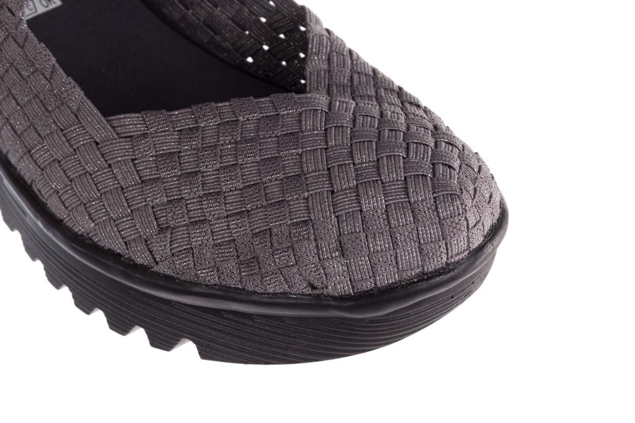 Półbuty rock brasil 2 grey silver lines, szary, materiał - koturny - buty damskie - kobieta 13
