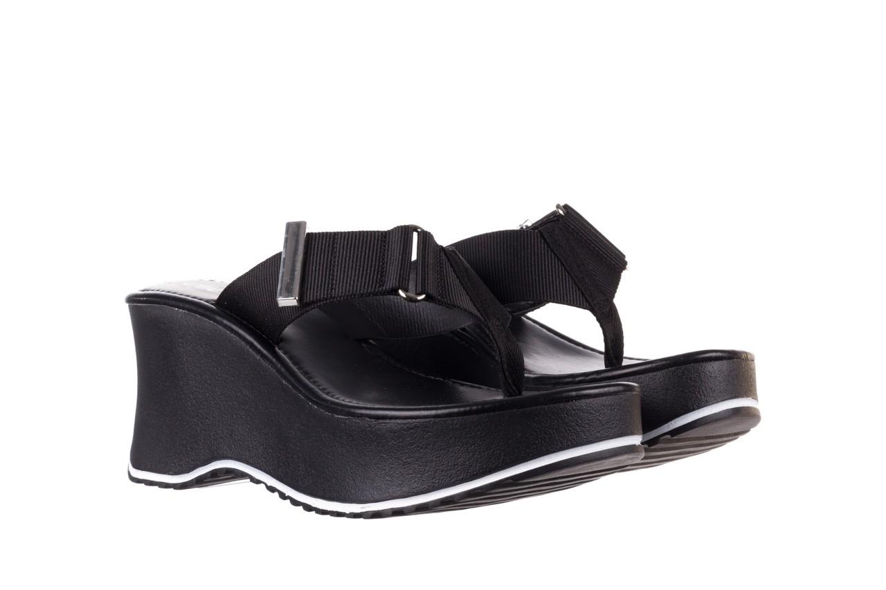 Klapki dijean 479 325 black, czarny, guma - japonki - klapki - buty damskie - kobieta 9