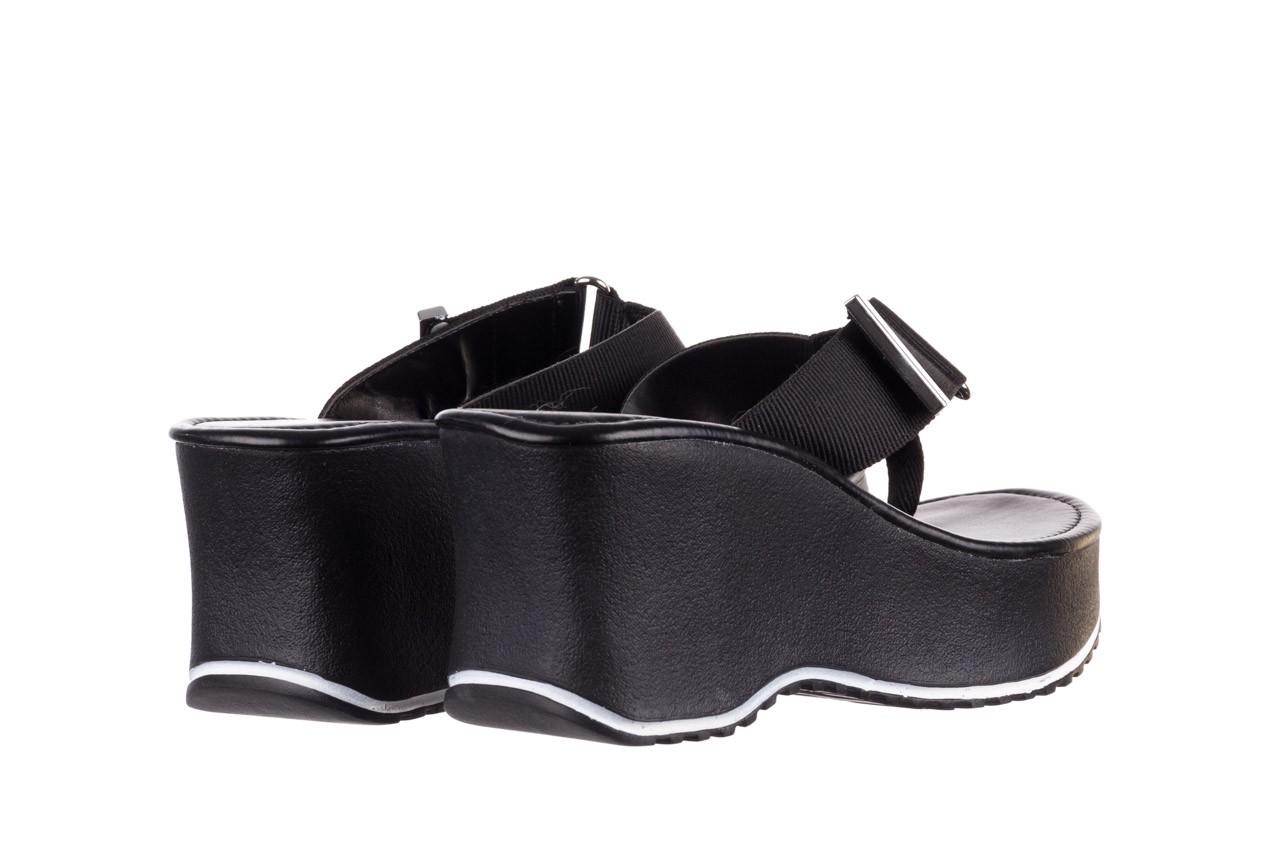 Klapki dijean 479 325 black, czarny, guma - mega okazje - ostatnie rozmiary 11