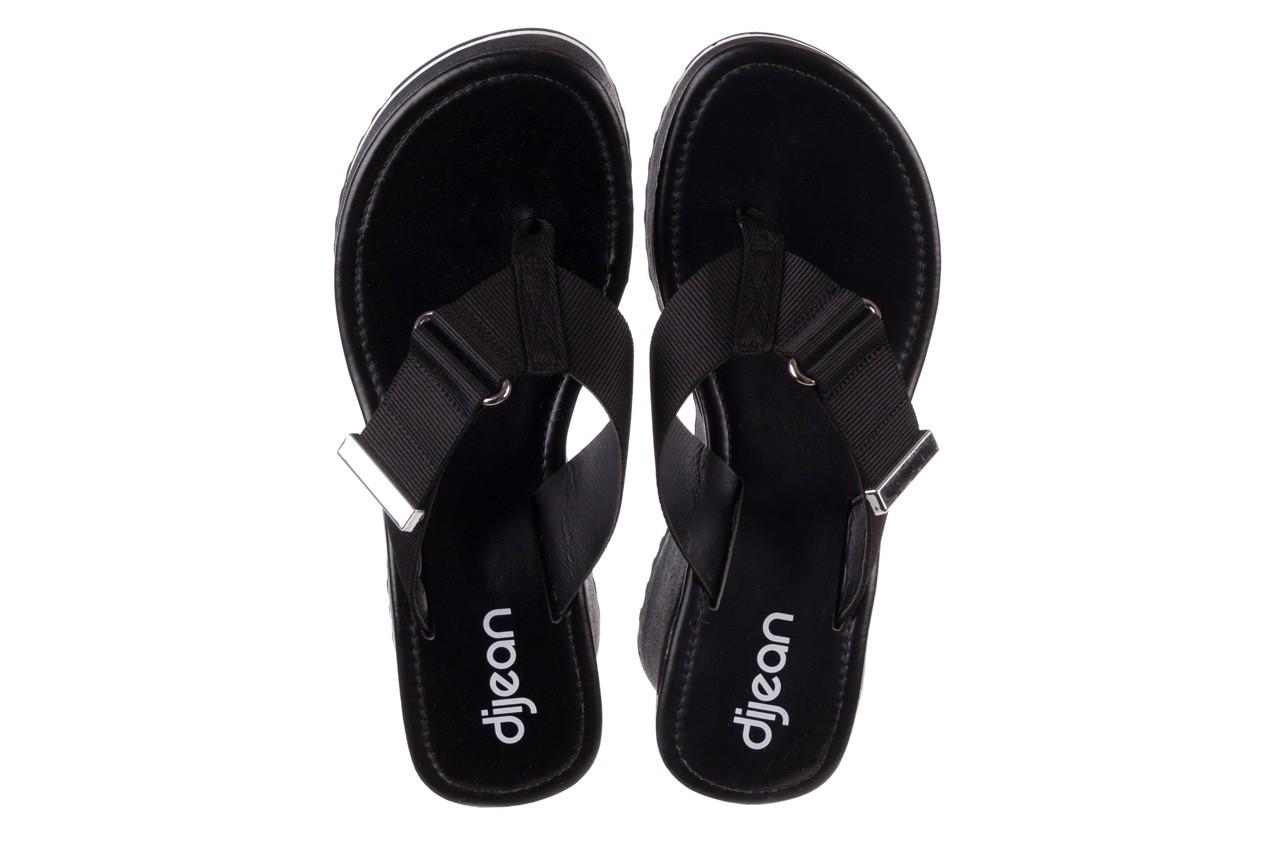 Klapki dijean 479 325 black, czarny, guma - japonki - klapki - buty damskie - kobieta 12