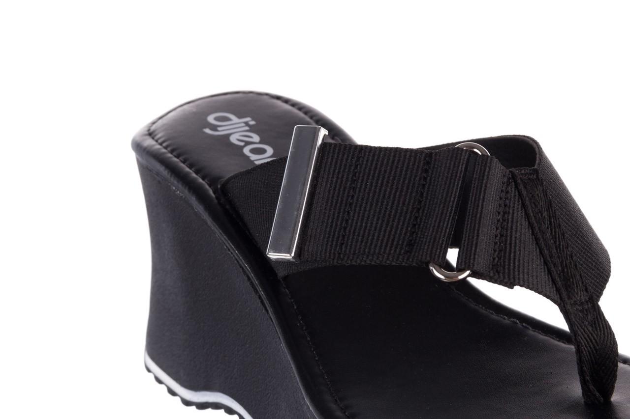 Klapki dijean 479 325 black, czarny, guma - mega okazje - ostatnie rozmiary 13