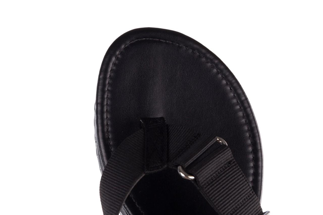 Klapki dijean 479 325 black, czarny, guma - mega okazje - ostatnie rozmiary 14