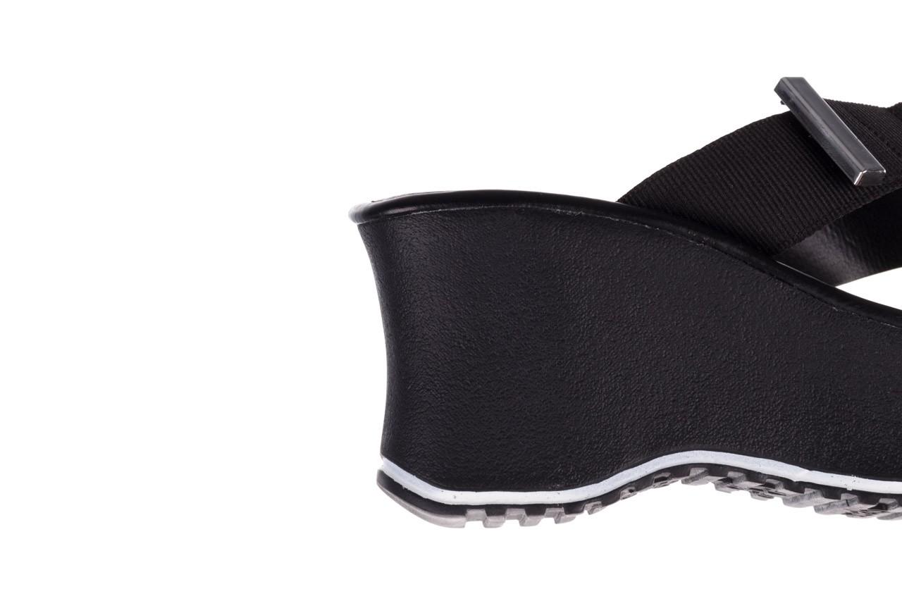 Klapki dijean 479 325 black, czarny, guma - mega okazje - ostatnie rozmiary 15