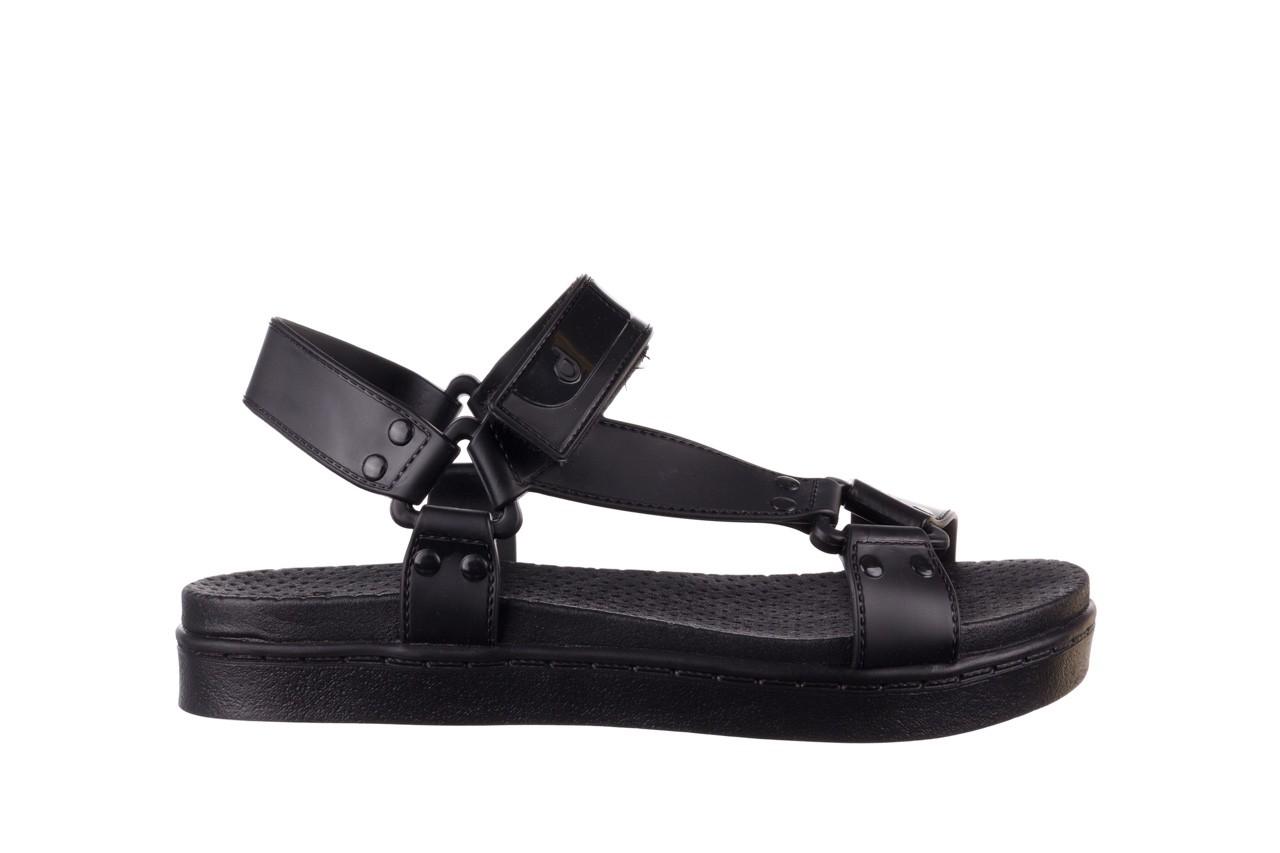 Sandały dijean 286 276 black-black, czarny, guma - mega okazje - ostatnie rozmiary 8