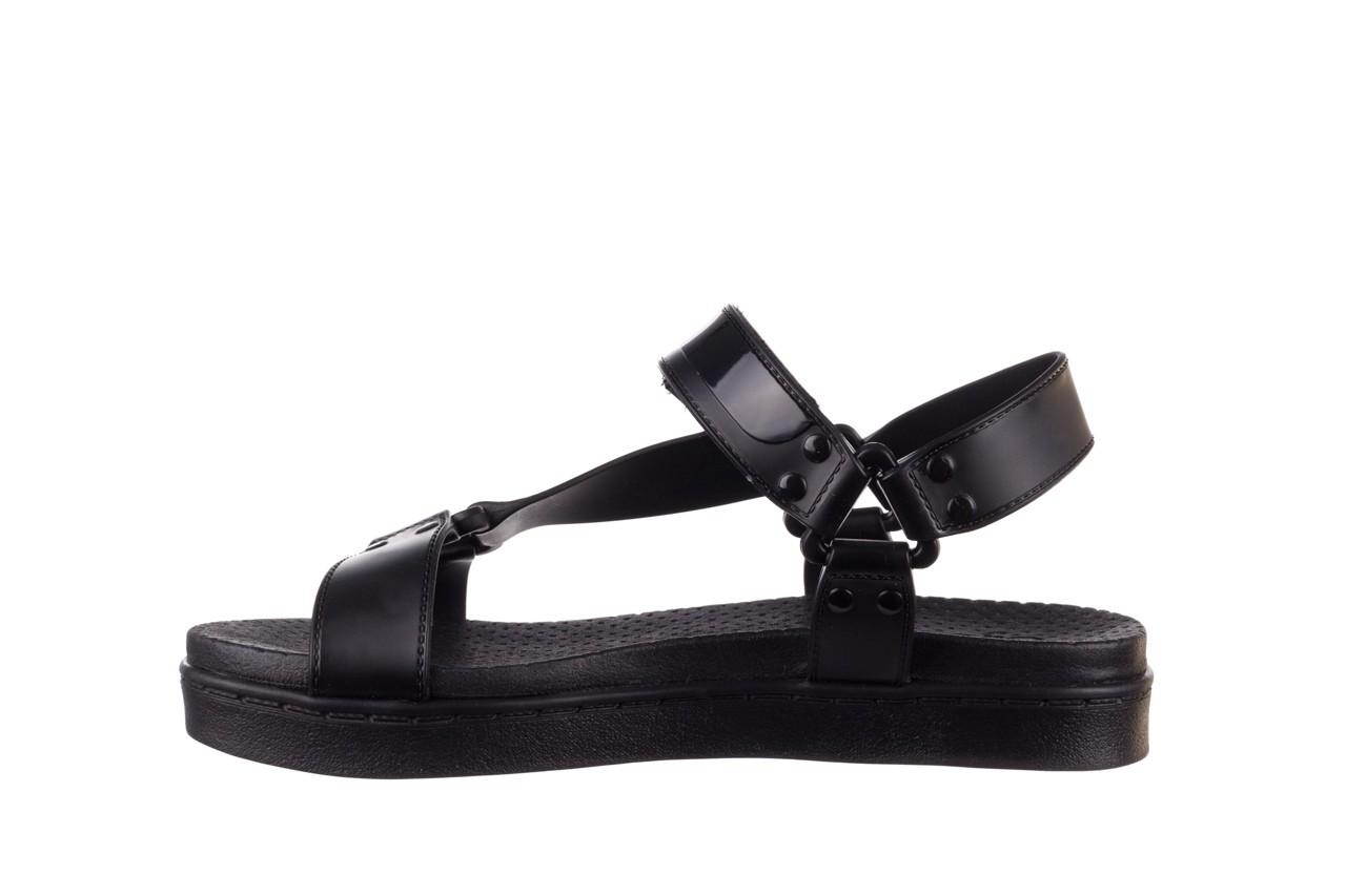 Sandały dijean 286 276 black-black, czarny, guma - mega okazje - ostatnie rozmiary 10