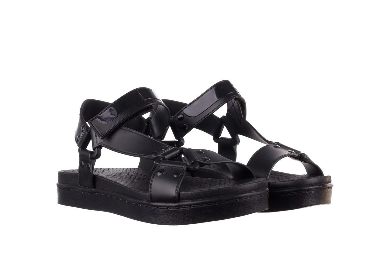 Sandały dijean 286 276 black-black, czarny, guma - mega okazje - ostatnie rozmiary 9