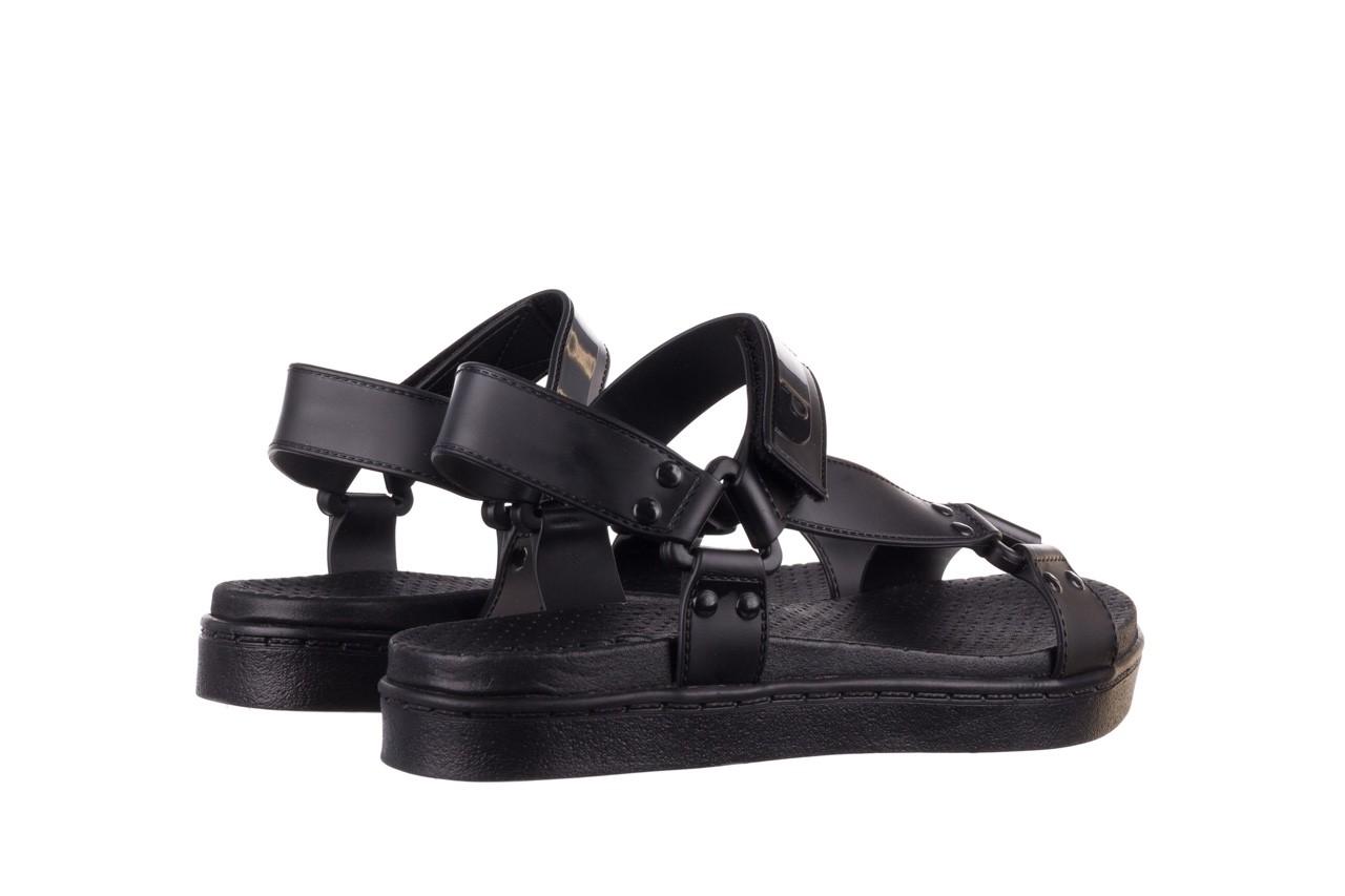 Sandały dijean 286 276 black-black, czarny, guma - mega okazje - ostatnie rozmiary 11