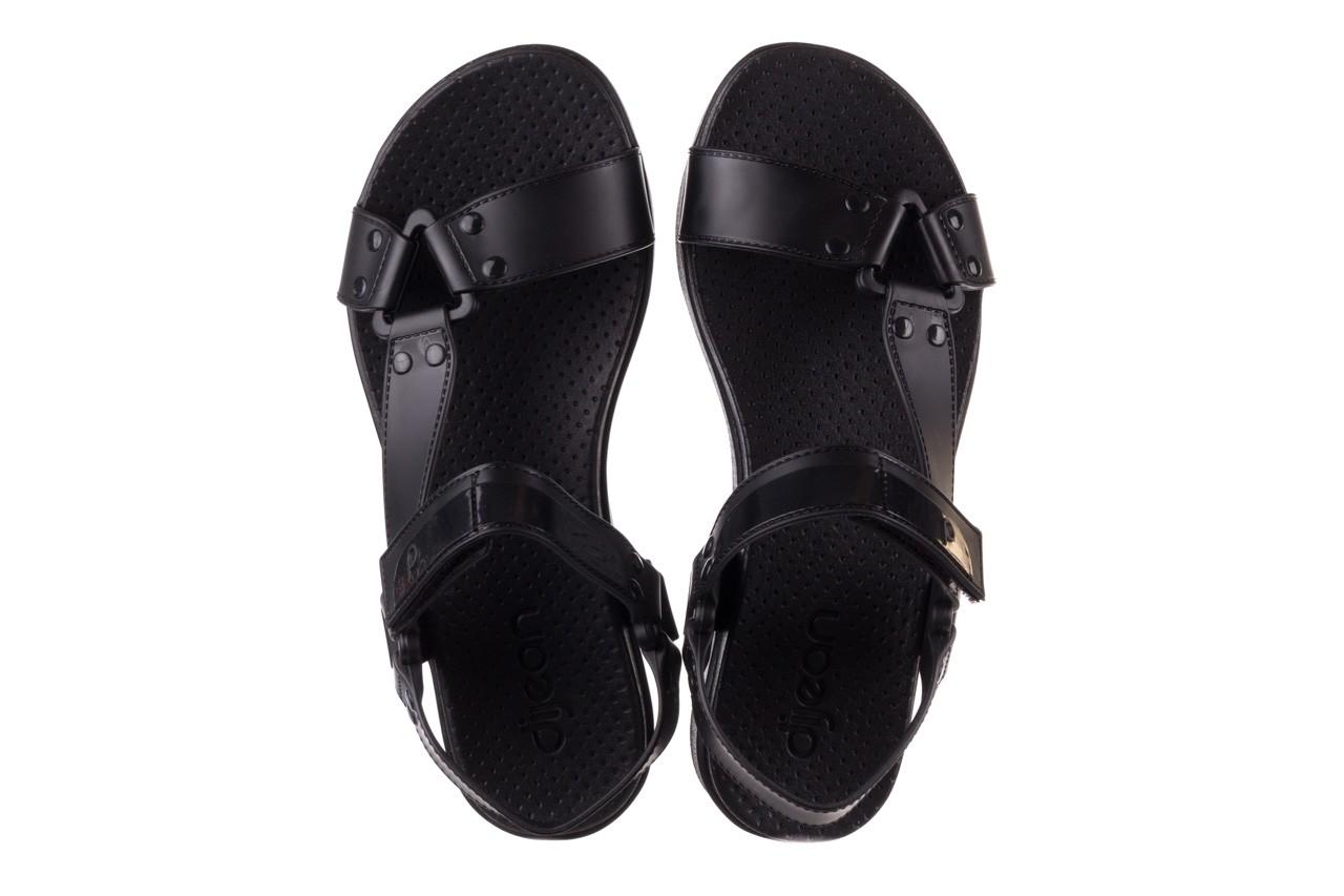 Sandały dijean 286 276 black-black, czarny, guma - mega okazje - ostatnie rozmiary 12