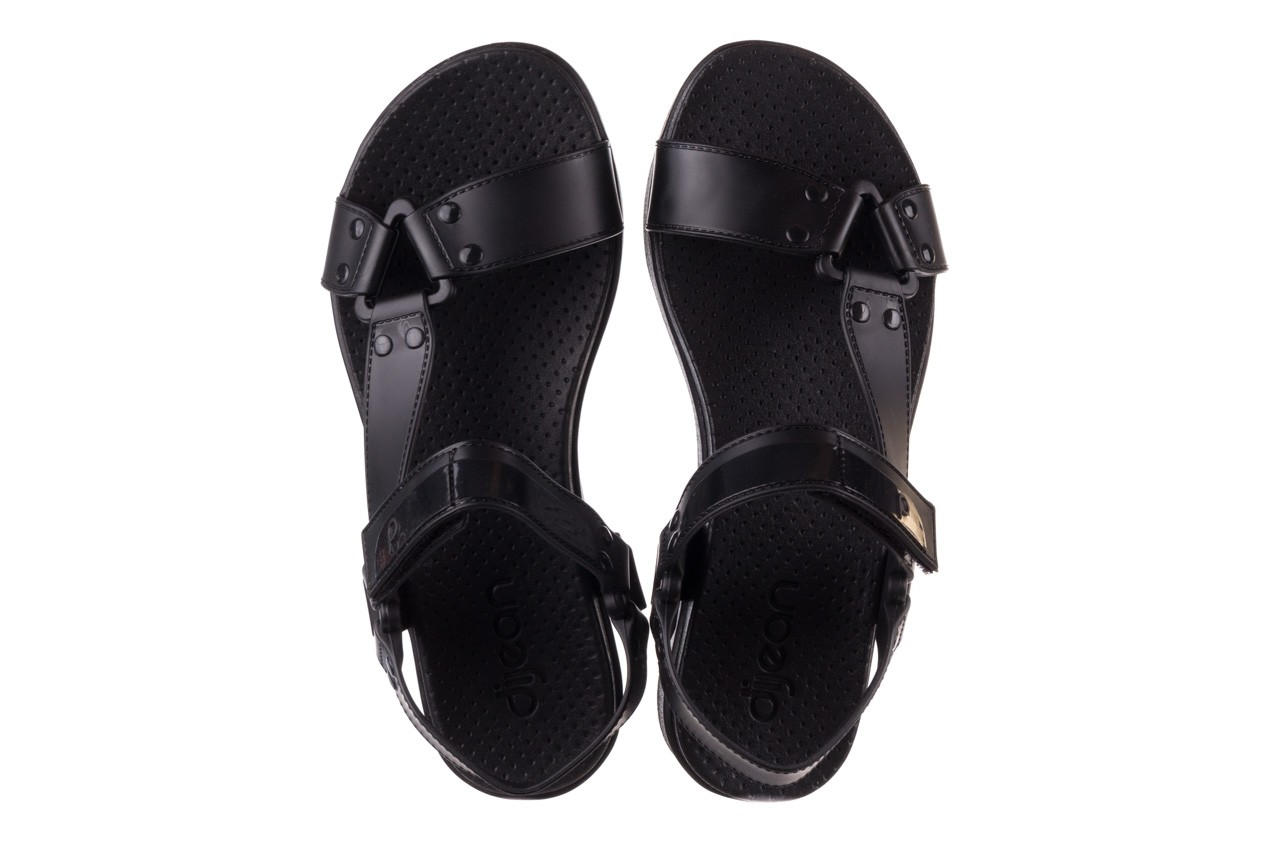 Sandały dijean 286 276 black-black, czarny, guma - dijean - nasze marki 12