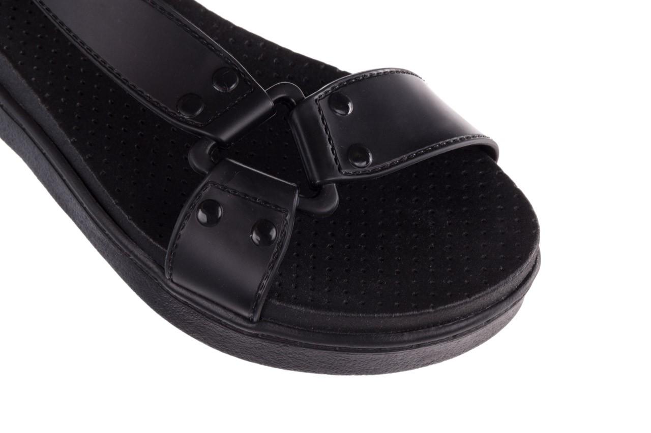 Sandały dijean 286 276 black-black, czarny, guma - mega okazje - ostatnie rozmiary 13