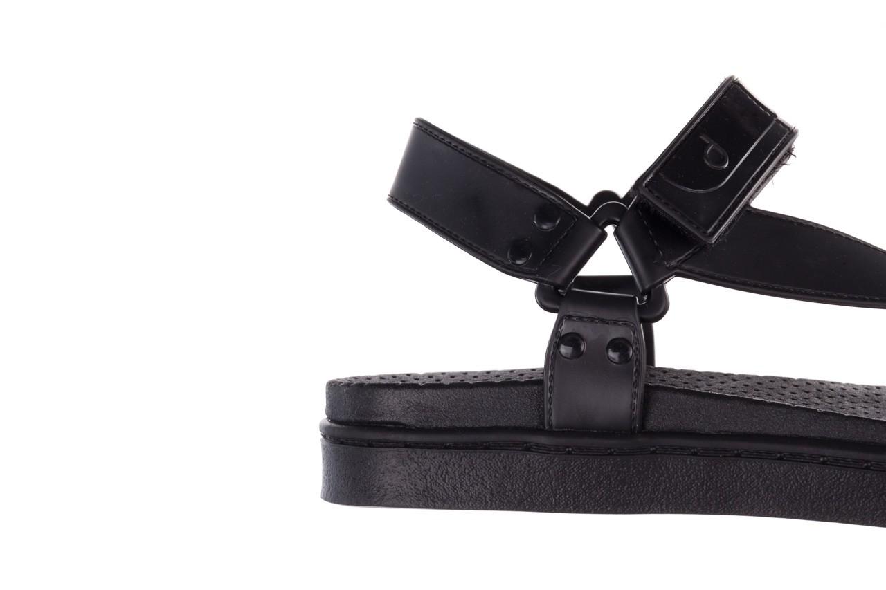Sandały dijean 286 276 black-black, czarny, guma - mega okazje - ostatnie rozmiary 14