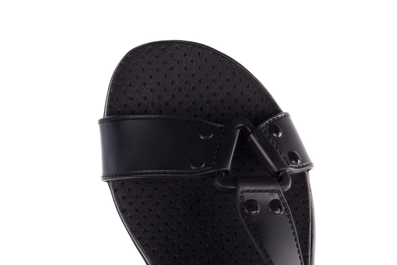 Sandały dijean 286 276 black-black, czarny, guma - mega okazje - ostatnie rozmiary 15