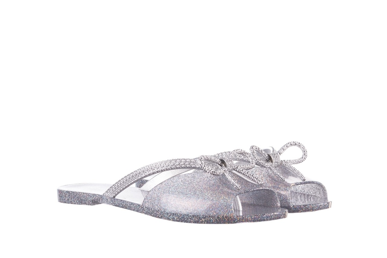 Klapki melissa ela chrome ad holographic glitter, srebrny, guma - gumowe/plastikowe - klapki - buty damskie - kobieta 8