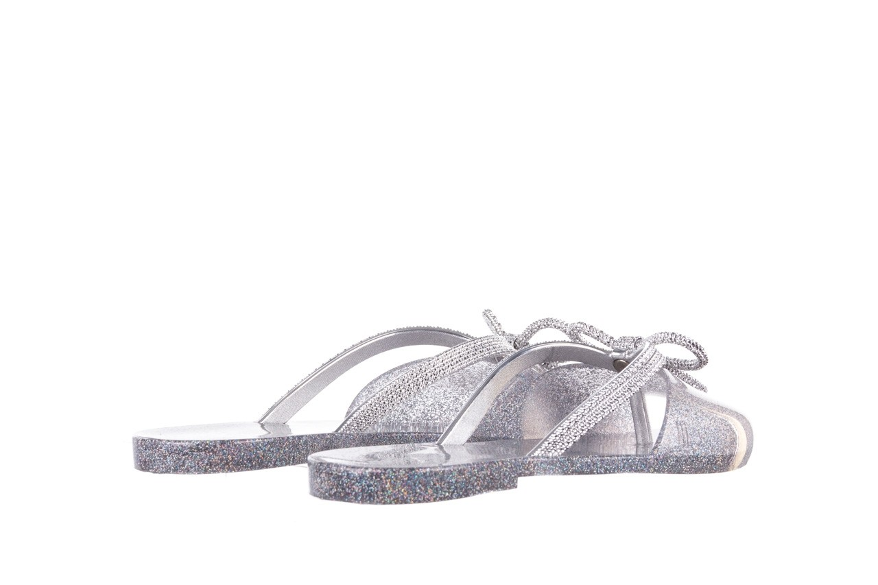 Klapki melissa ela chrome ad holographic glitter, srebrny, guma - gumowe/plastikowe - klapki - buty damskie - kobieta 10