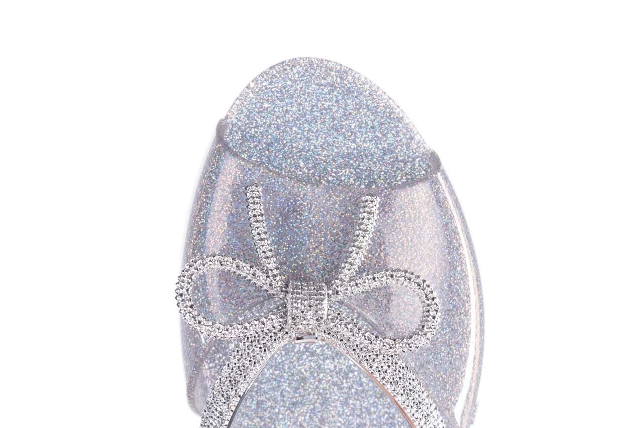 Klapki melissa ela chrome ad holographic glitter, srebrny, guma 13