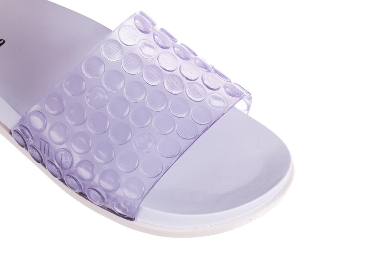 Klapki melissa polibolha slide ad white clear, biały, guma - dla niej  - sale 13
