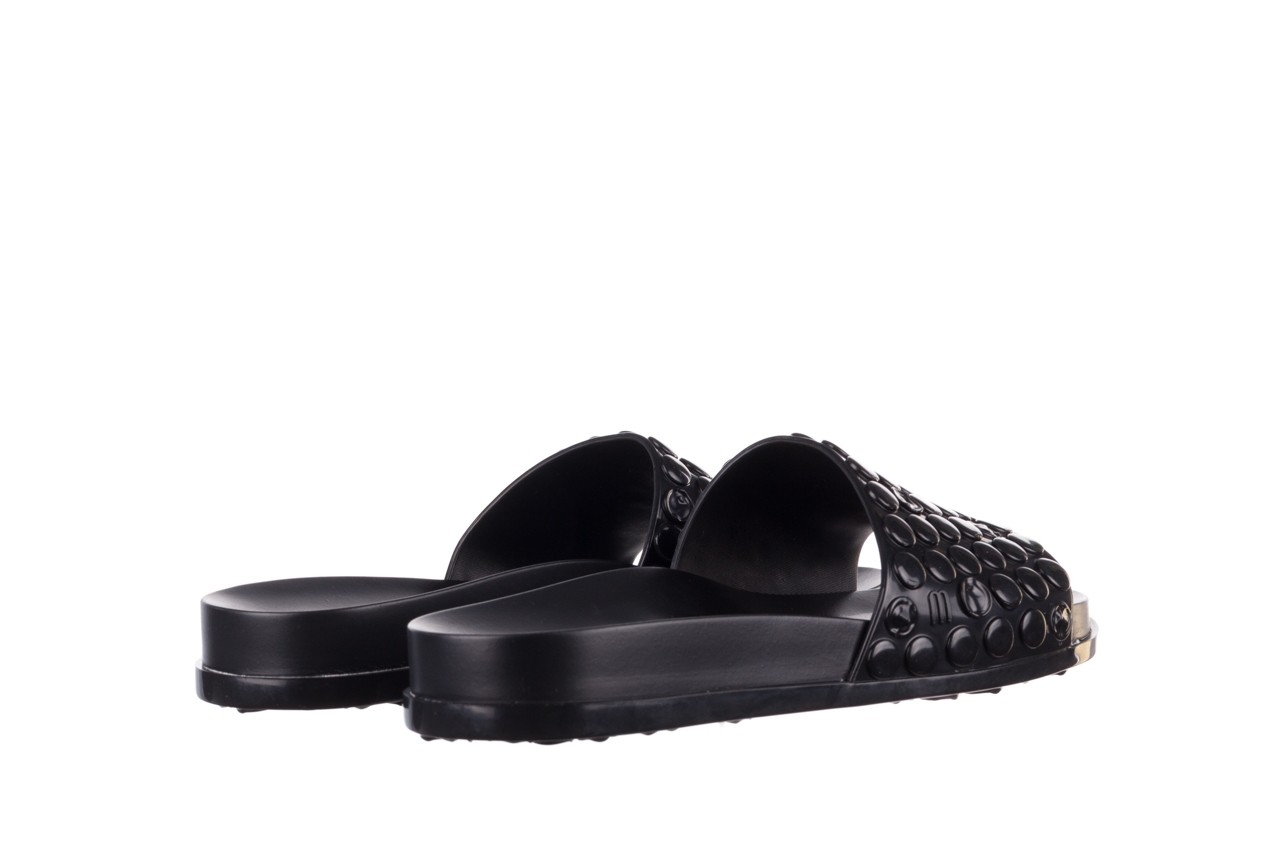 Klapki melissa polibolha slide ad black, czarny, guma - gumowe/plastikowe - klapki - buty damskie - kobieta 11