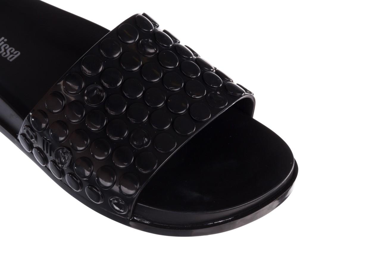Klapki melissa polibolha slide ad black, czarny, guma - gumowe/plastikowe - klapki - buty damskie - kobieta 13