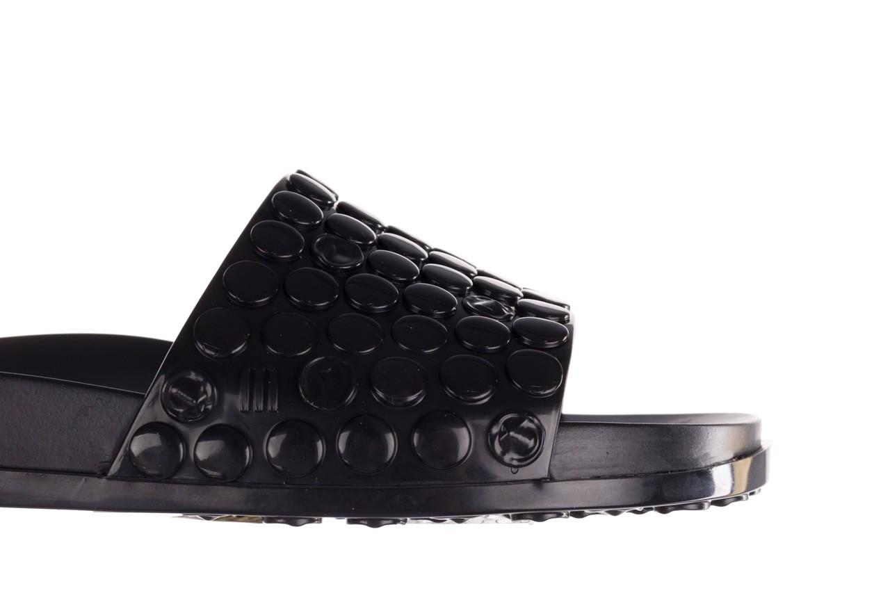 Klapki melissa polibolha slide ad black, czarny, guma - gumowe/plastikowe - klapki - buty damskie - kobieta 14