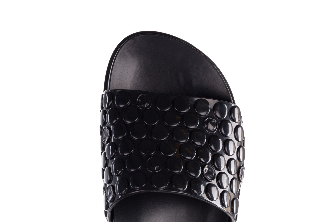 Klapki melissa polibolha slide ad black, czarny, guma - gumowe/plastikowe - klapki - buty damskie - kobieta 15