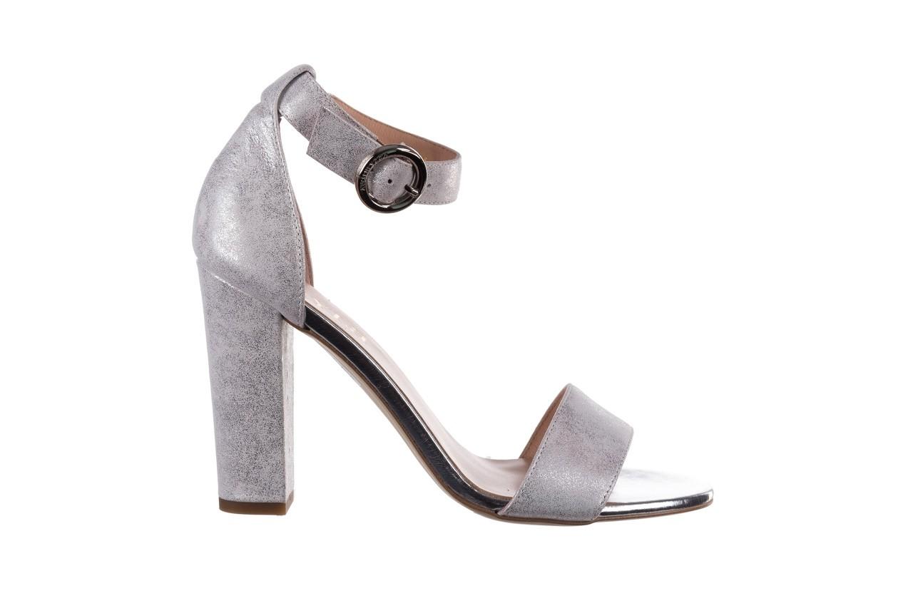 Sandały bayla-056 8024-1089 srebrny, skóra naturalna  - na obcasie - sandały - buty damskie - kobieta 8