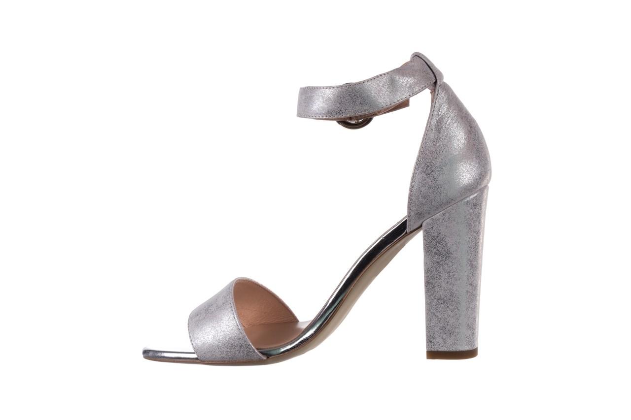 Sandały bayla-056 8024-1089 srebrny, skóra naturalna 10