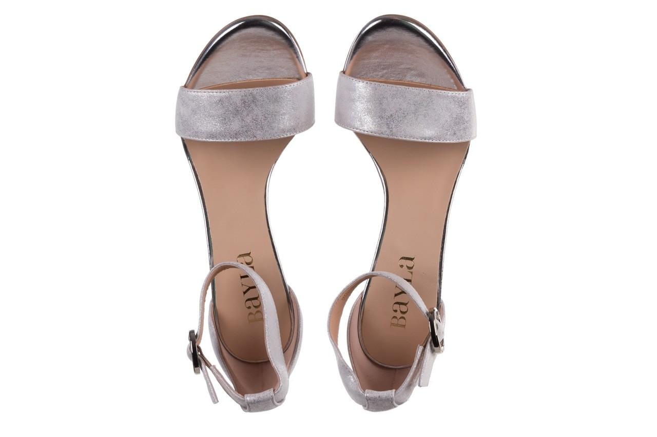 Sandały bayla-056 8024-1089 srebrny, skóra naturalna 12