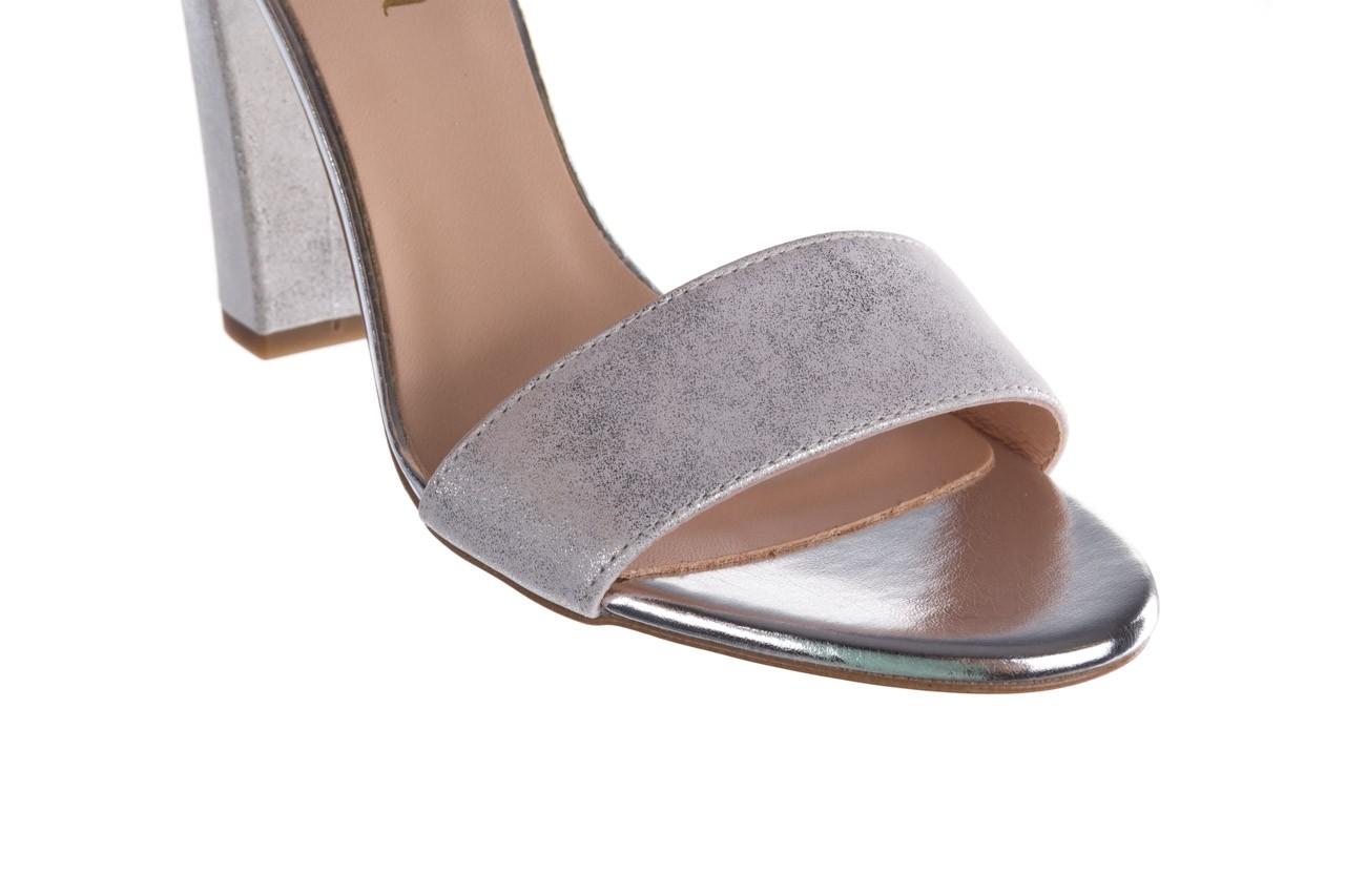 Sandały bayla-056 8024-1089 srebrny, skóra naturalna  - na obcasie - sandały - buty damskie - kobieta 13
