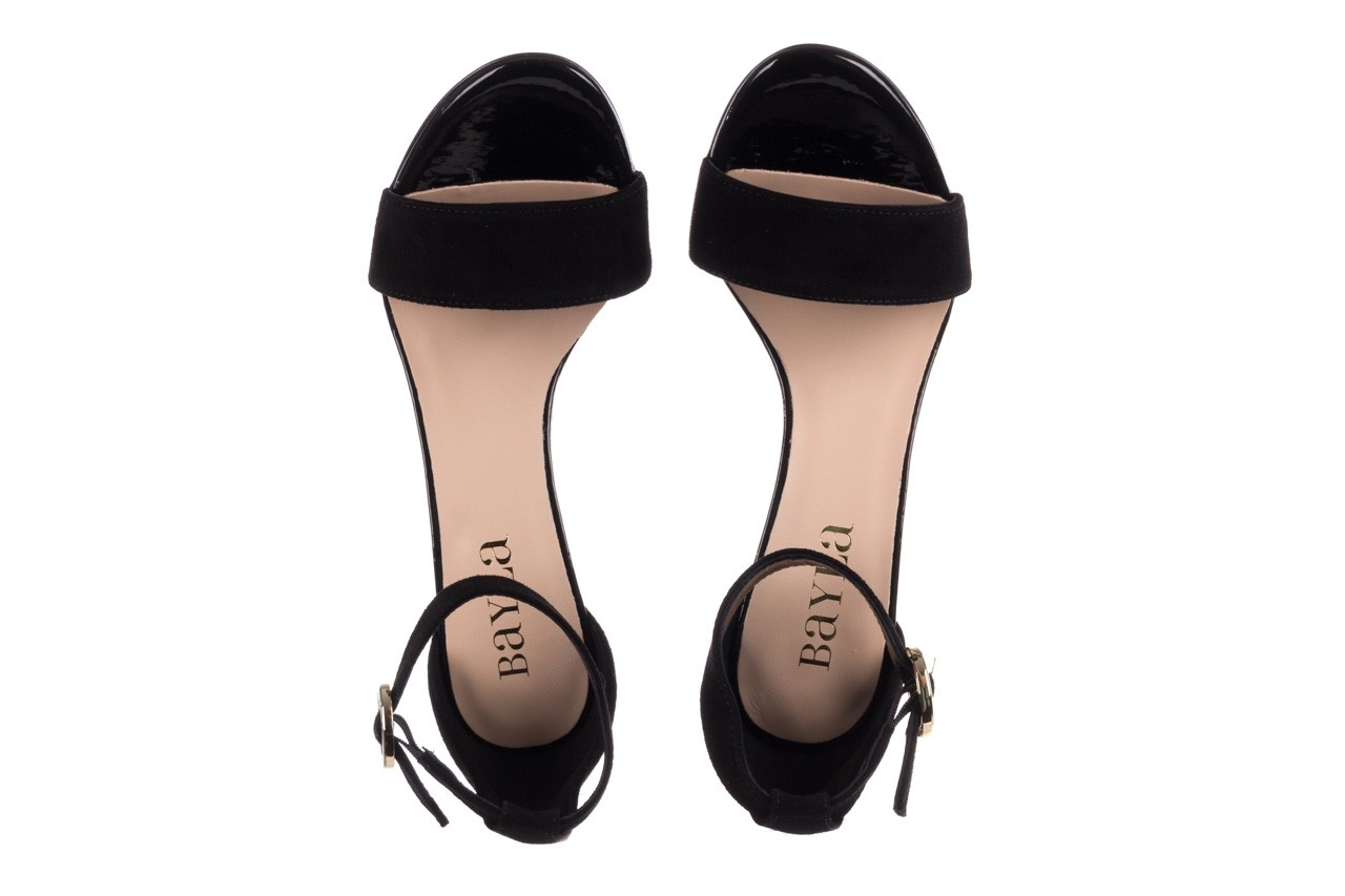 Sandały bayla-056 8024-21 czarny zamsz, skóra naturalna - wiosna-lato 2019 12