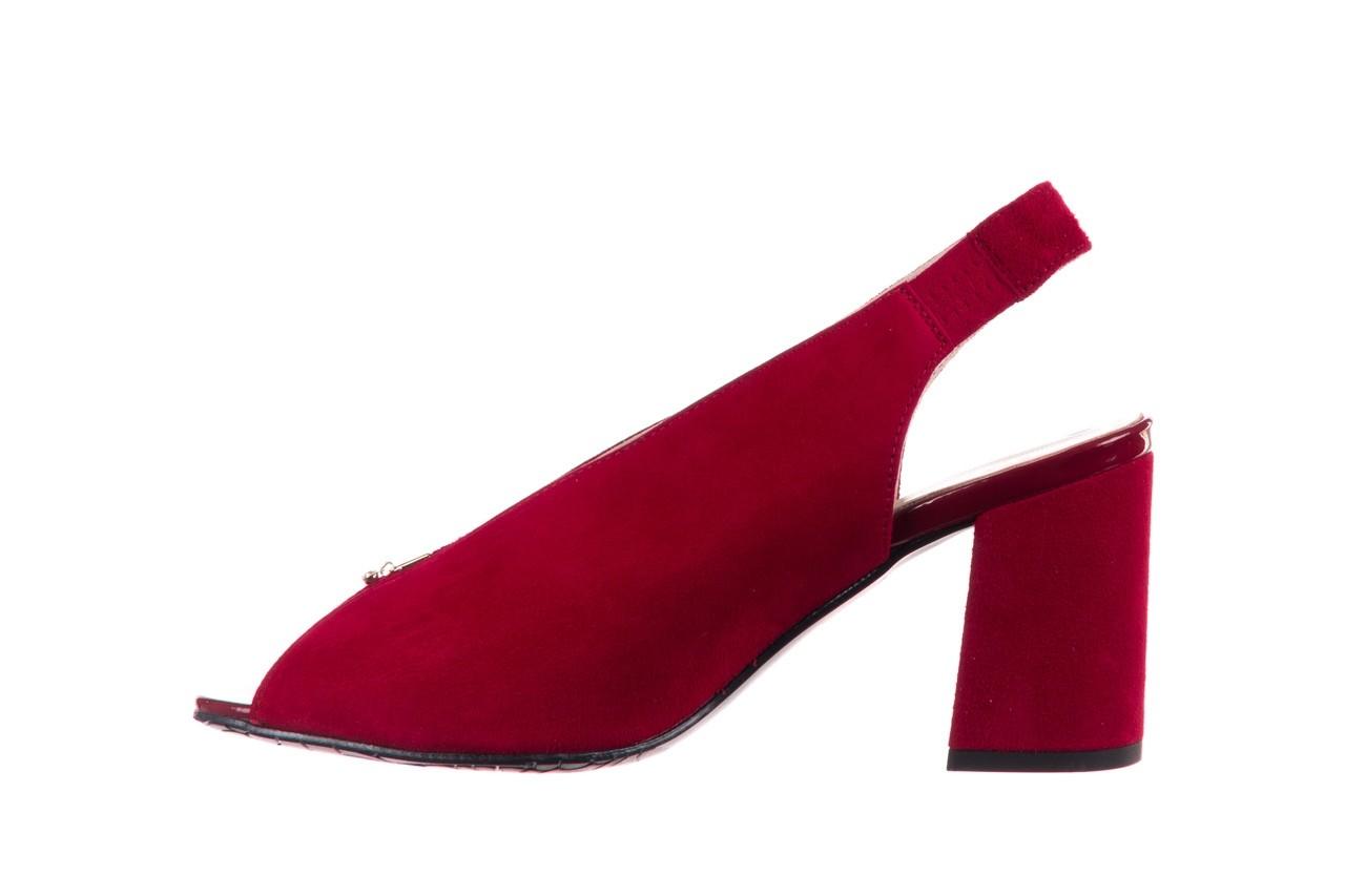 Sandały bayla-056 8097-1432 bordo zamsz, skóra naturalna  - dla niej  - sale 9