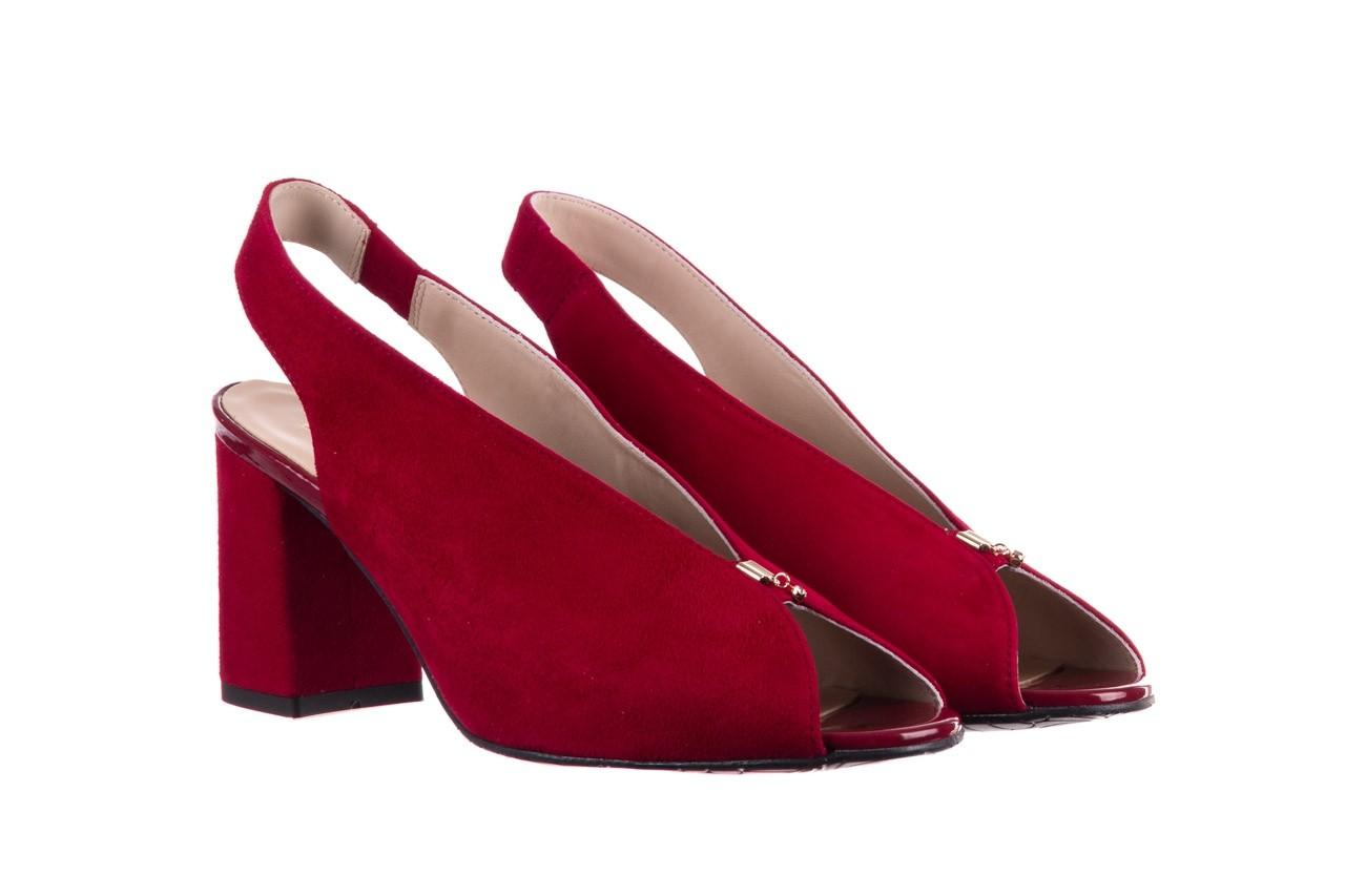 Sandały bayla-056 8097-1432 bordo zamsz, skóra naturalna  - dla niej  - sale 8