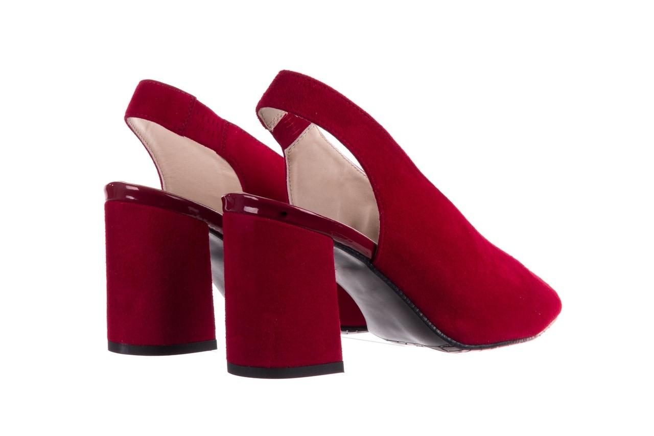 Sandały bayla-056 8097-1432 bordo zamsz, skóra naturalna  - dla niej  - sale 10