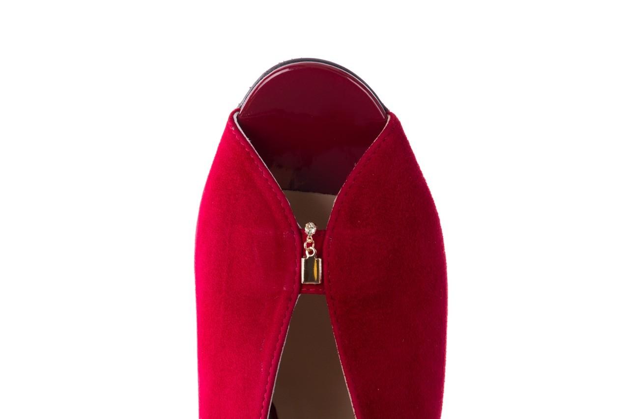 Sandały bayla-056 8097-1432 bordo zamsz, skóra naturalna  - dla niej  - sale 12