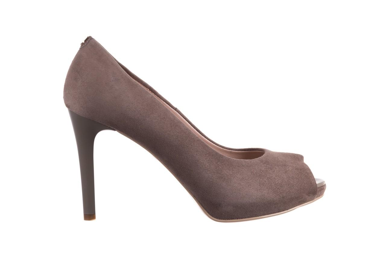 Szpilki bayla-056 9134-1318 szary zamsz, skóra naturalna  - peep toe - szpilki - buty damskie - kobieta 8