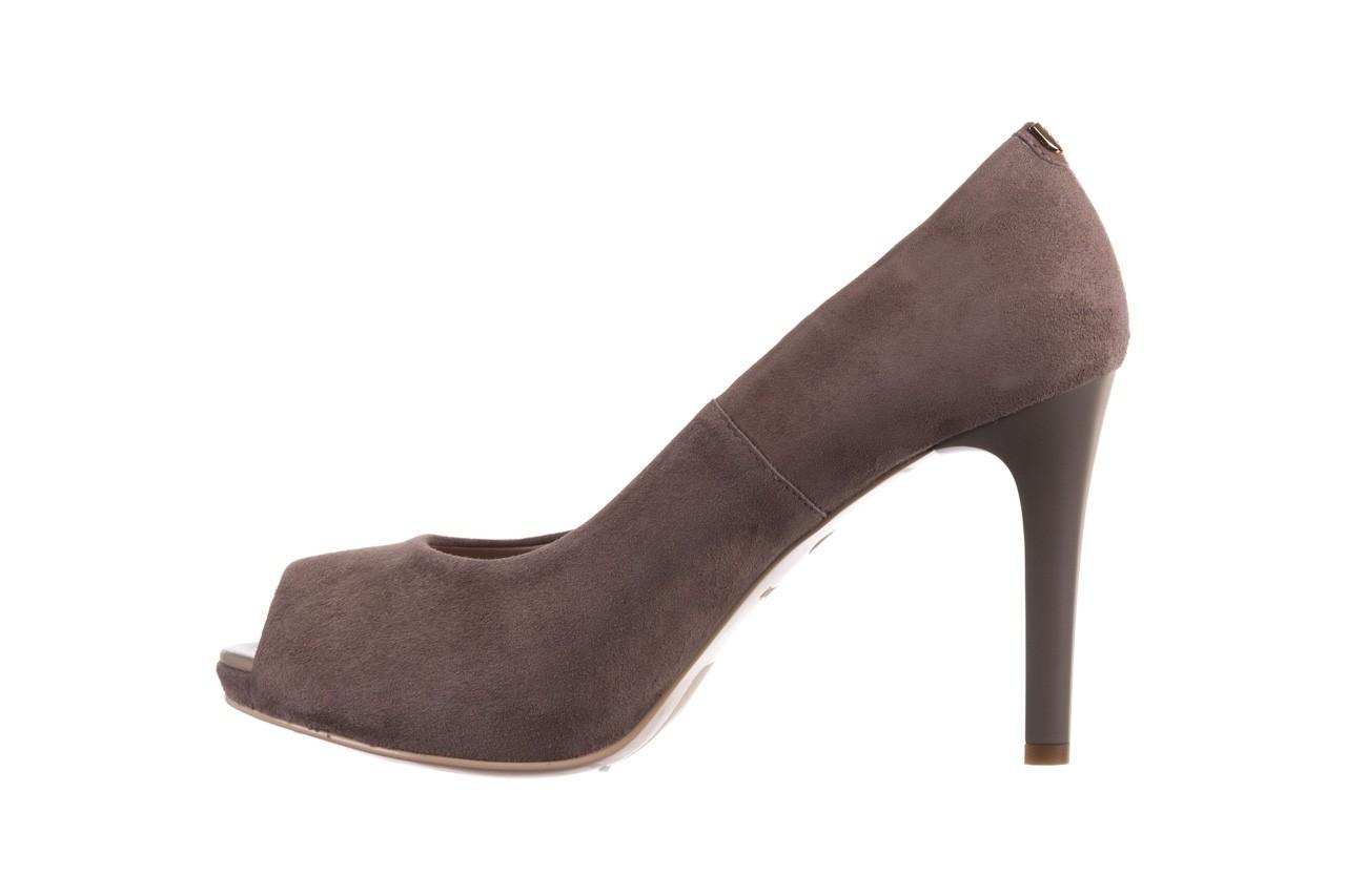 Szpilki bayla-056 9134-1318 szary zamsz, skóra naturalna  - peep toe - szpilki - buty damskie - kobieta 10
