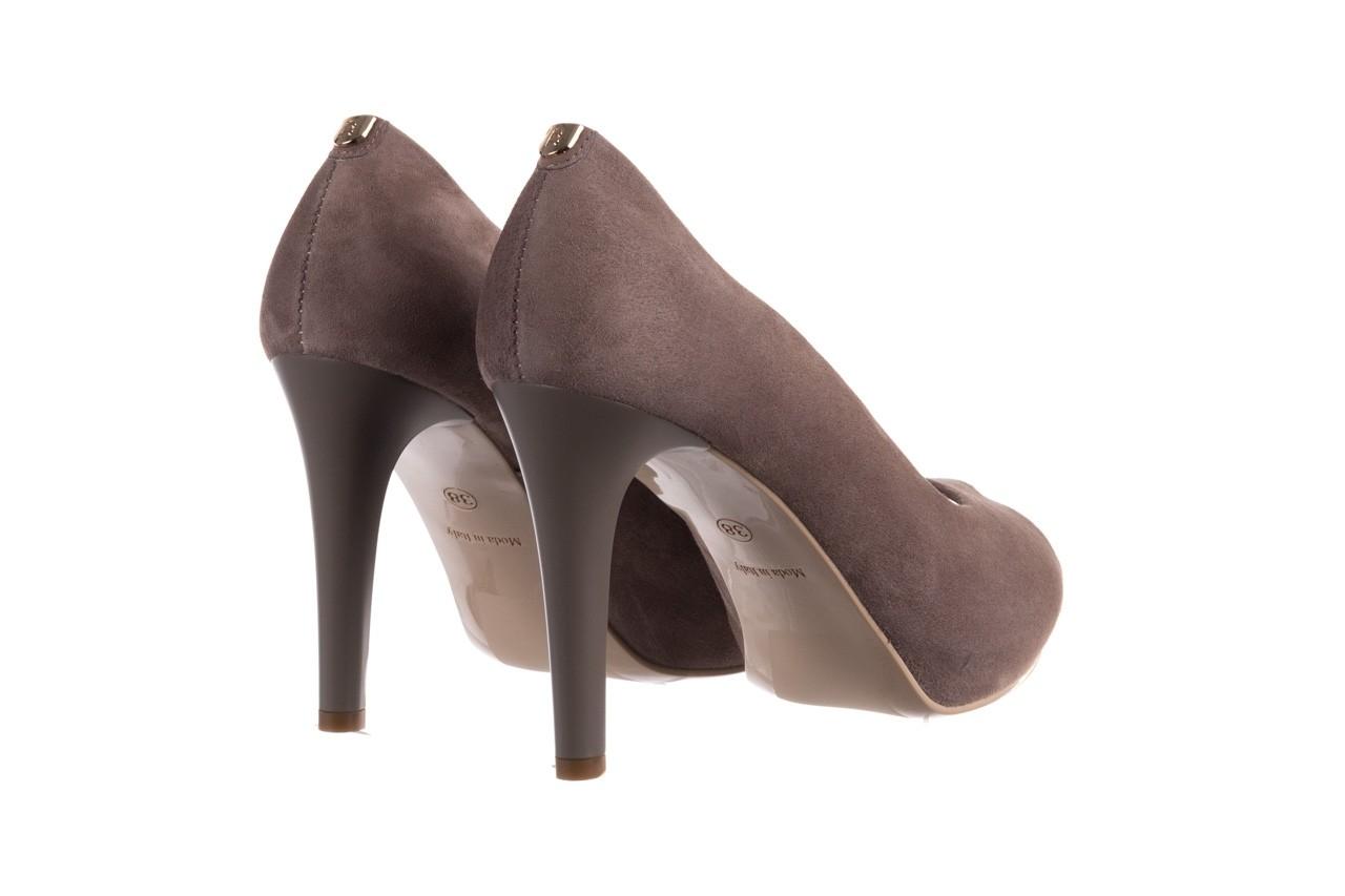 Szpilki bayla-056 9134-1318 szary zamsz, skóra naturalna  - peep toe - szpilki - buty damskie - kobieta 11
