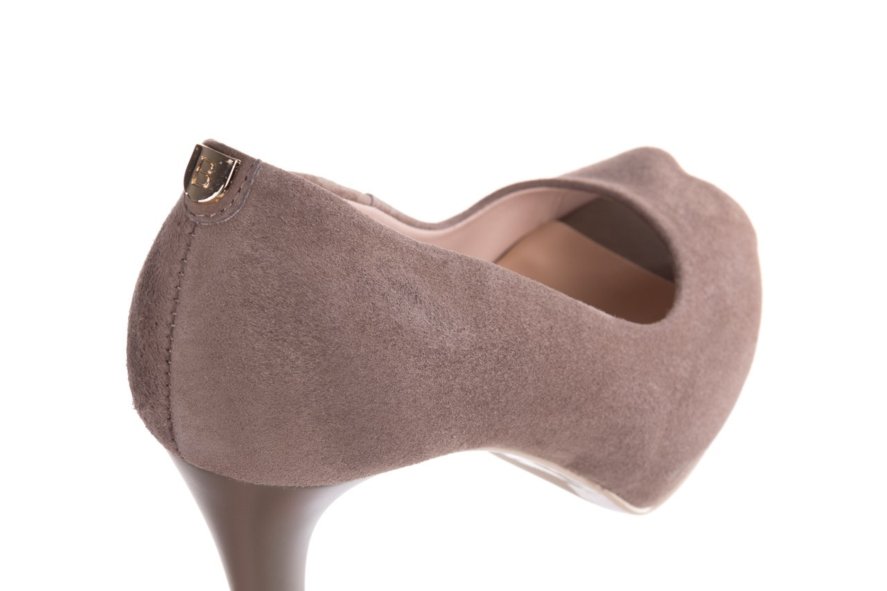 Szpilki bayla-056 9134-1318 szary zamsz, skóra naturalna  - peep toe - szpilki - buty damskie - kobieta 13