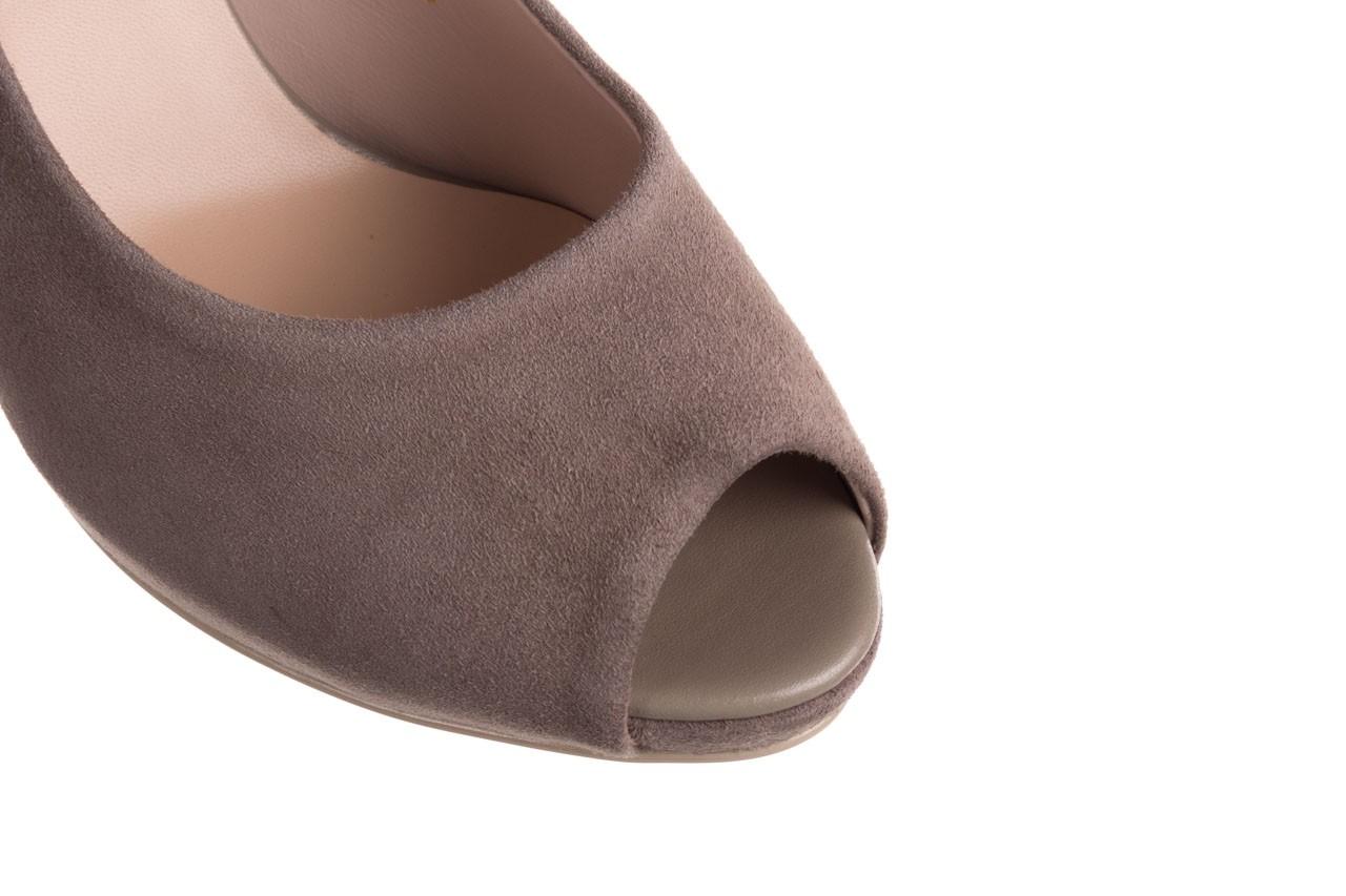Szpilki bayla-056 9134-1318 szary zamsz, skóra naturalna  - peep toe - szpilki - buty damskie - kobieta 14