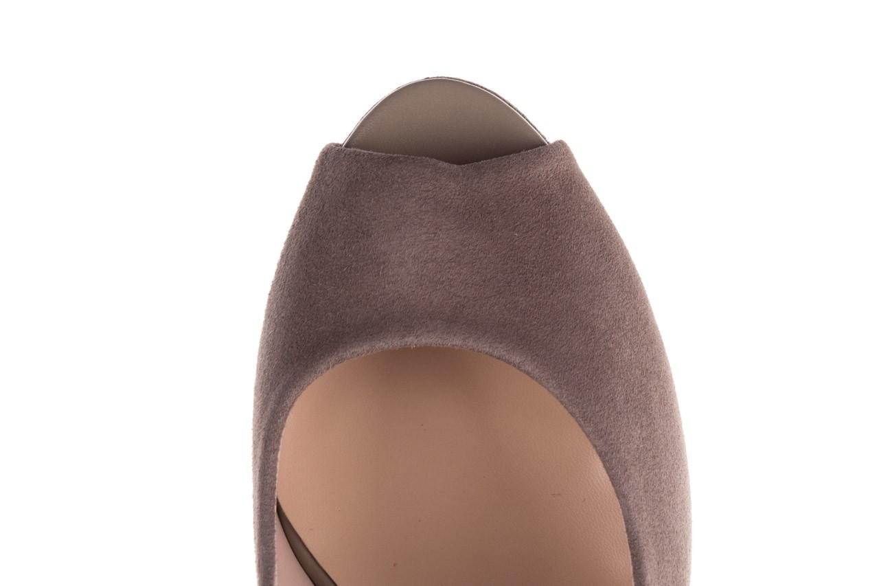 Szpilki bayla-056 9134-1318 szary zamsz, skóra naturalna  - peep toe - szpilki - buty damskie - kobieta 15