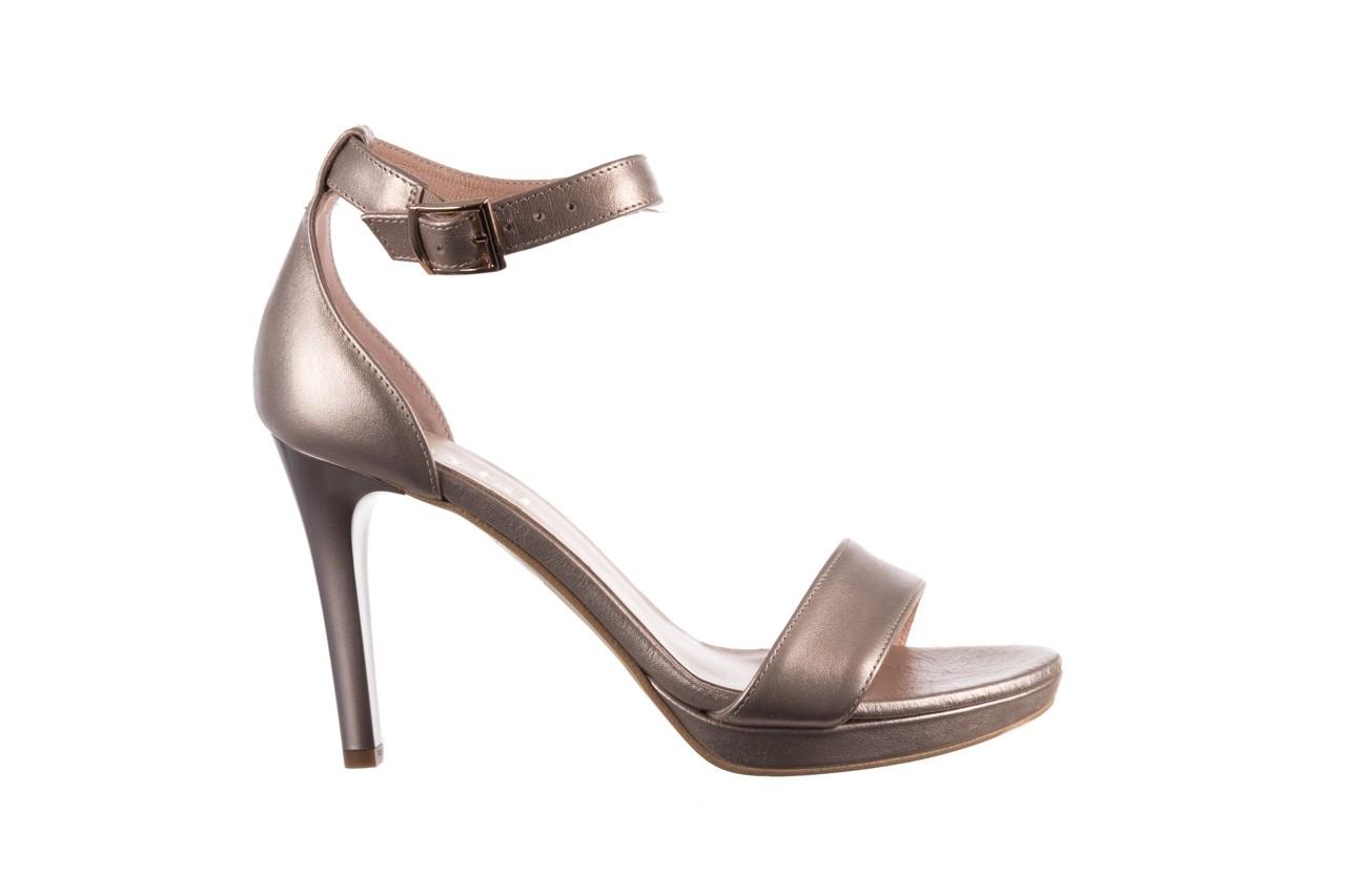 Sandały bayla-056 9177-1099 beż perła, skóra naturalna  - na obcasie - sandały - buty damskie - kobieta 7