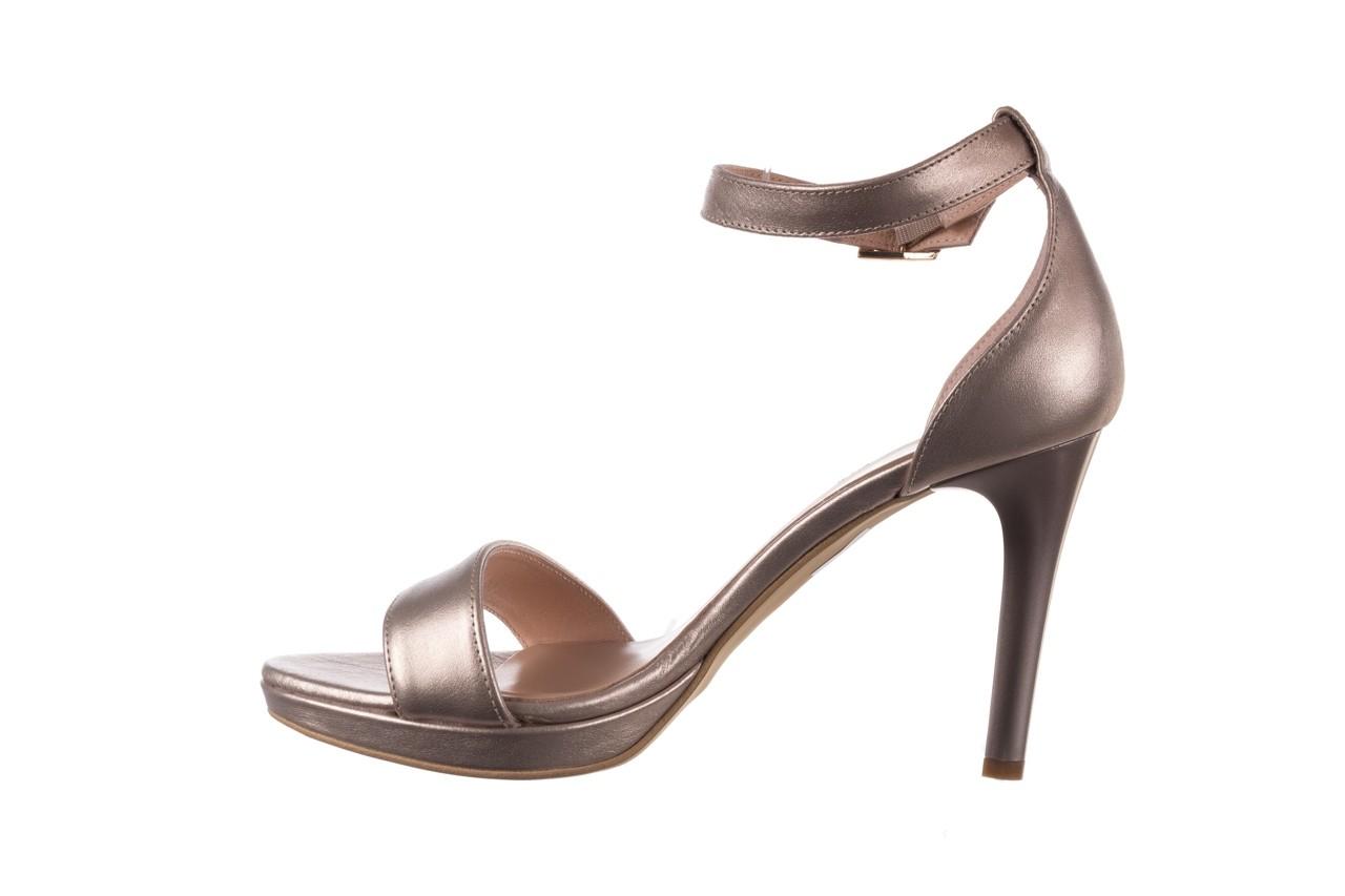 Sandały bayla-056 9177-1099 beż perła, skóra naturalna  - na obcasie - sandały - buty damskie - kobieta 9