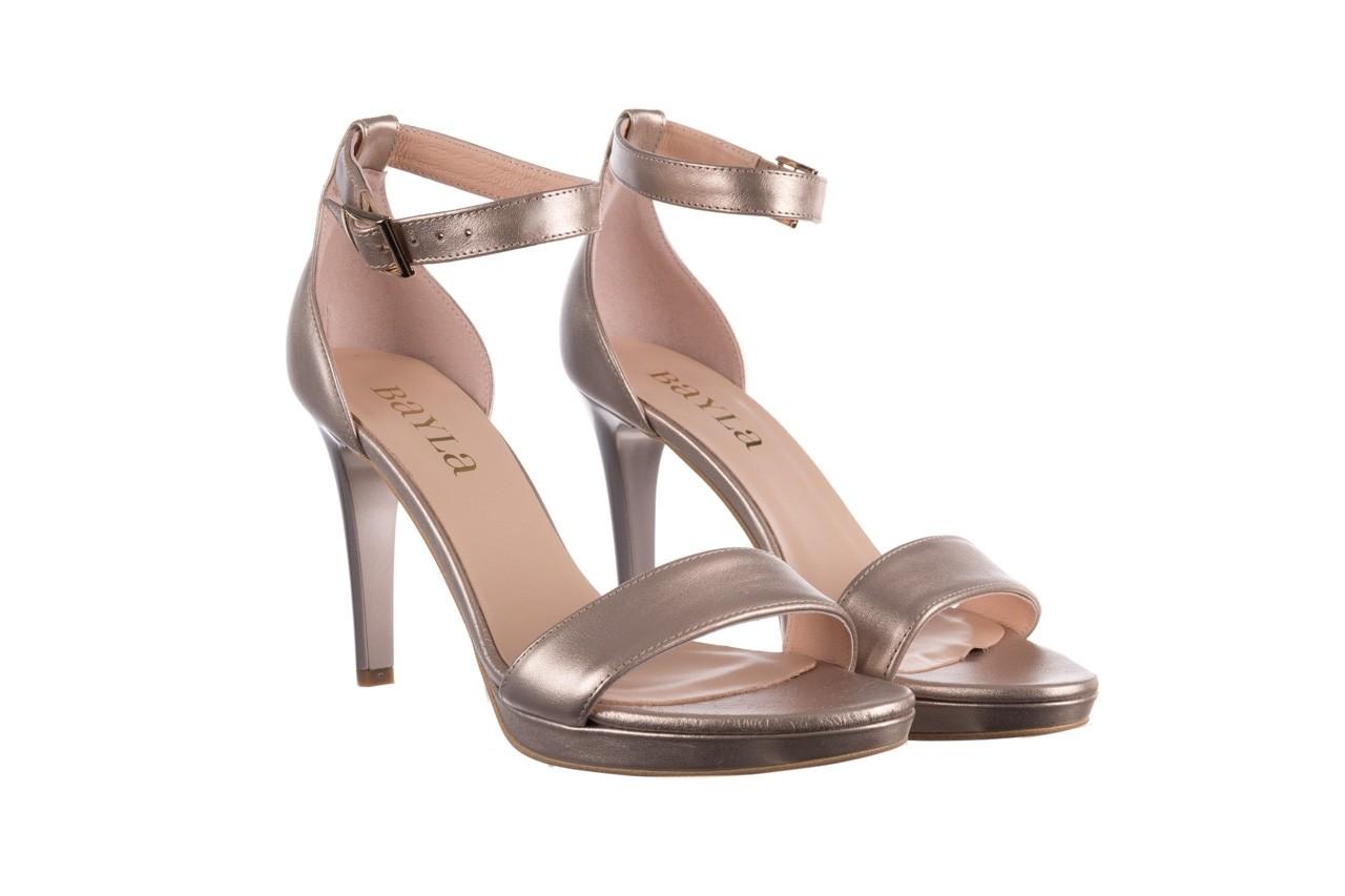 Sandały bayla-056 9177-1099 beż perła, skóra naturalna  - na obcasie - sandały - buty damskie - kobieta 8