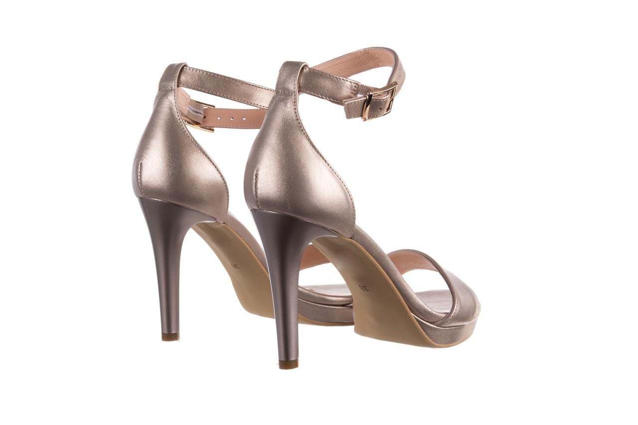 Sandały bayla-056 9177-1099 beż perła, skóra naturalna  - na obcasie - sandały - buty damskie - kobieta 10
